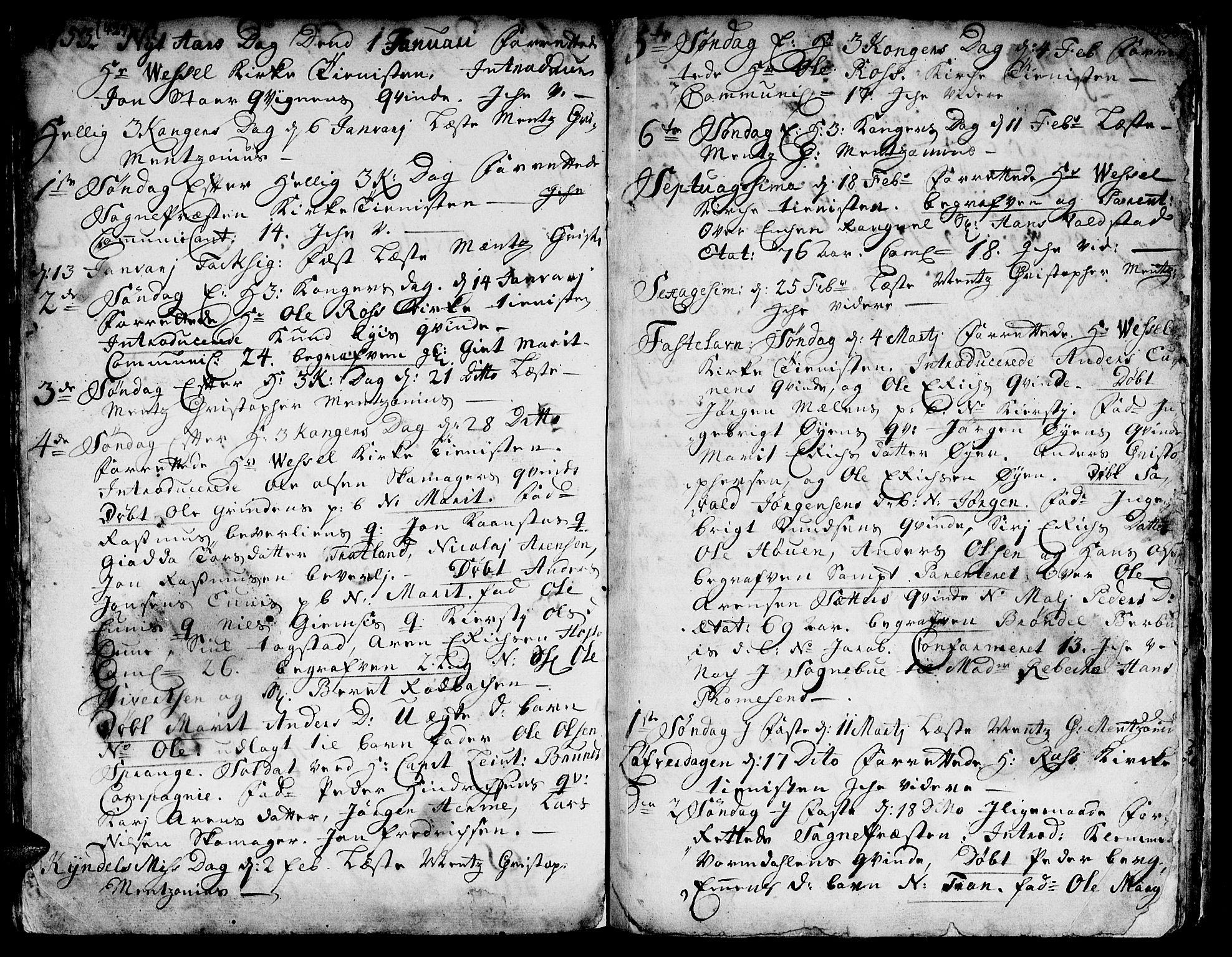 SAT, Ministerialprotokoller, klokkerbøker og fødselsregistre - Sør-Trøndelag, 671/L0839: Ministerialbok nr. 671A01, 1730-1755, s. 429-430