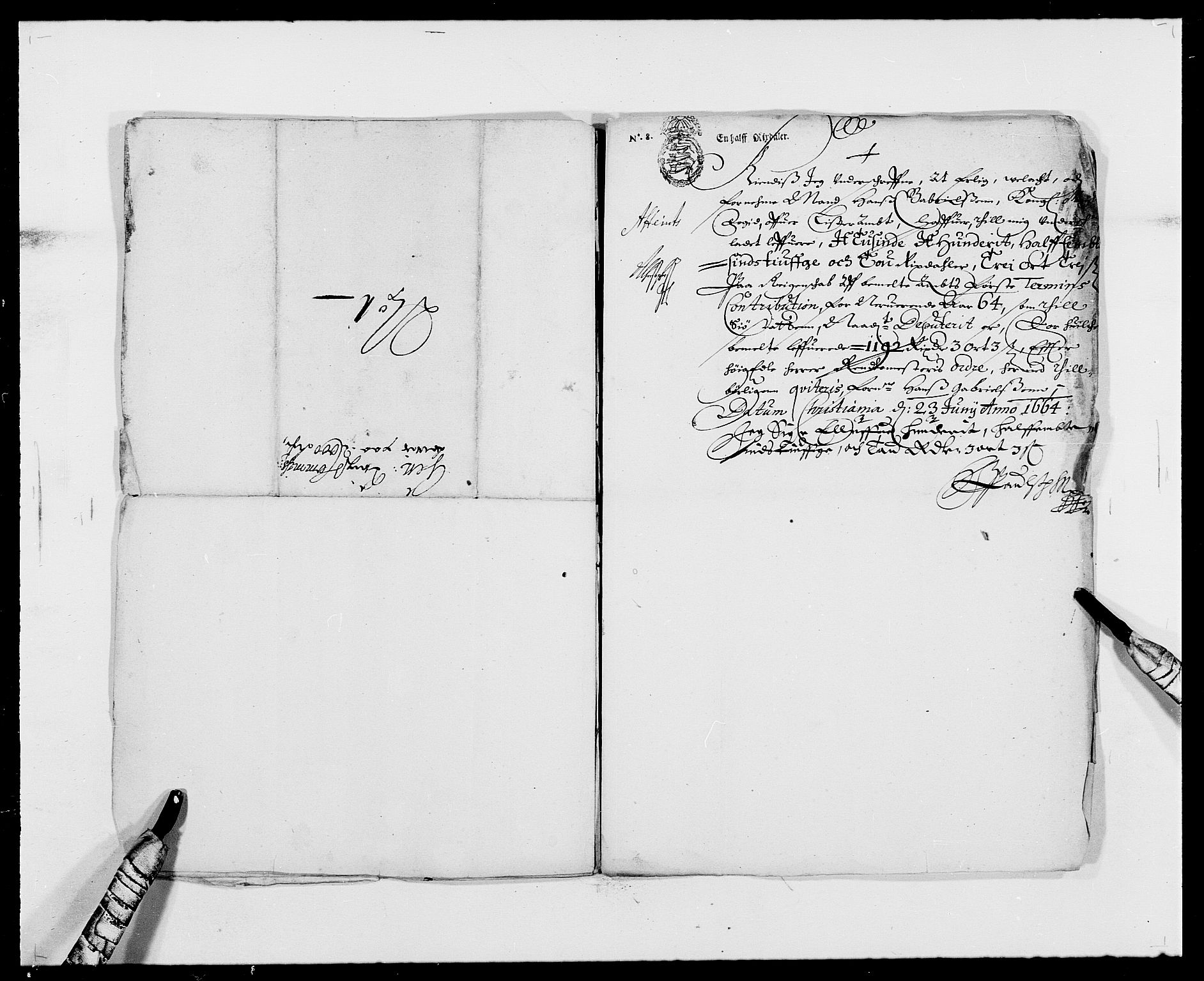 RA, Rentekammeret inntil 1814, Reviderte regnskaper, Fogderegnskap, R41/L2523: Fogderegnskap Lista, 1663-1664, s. 406