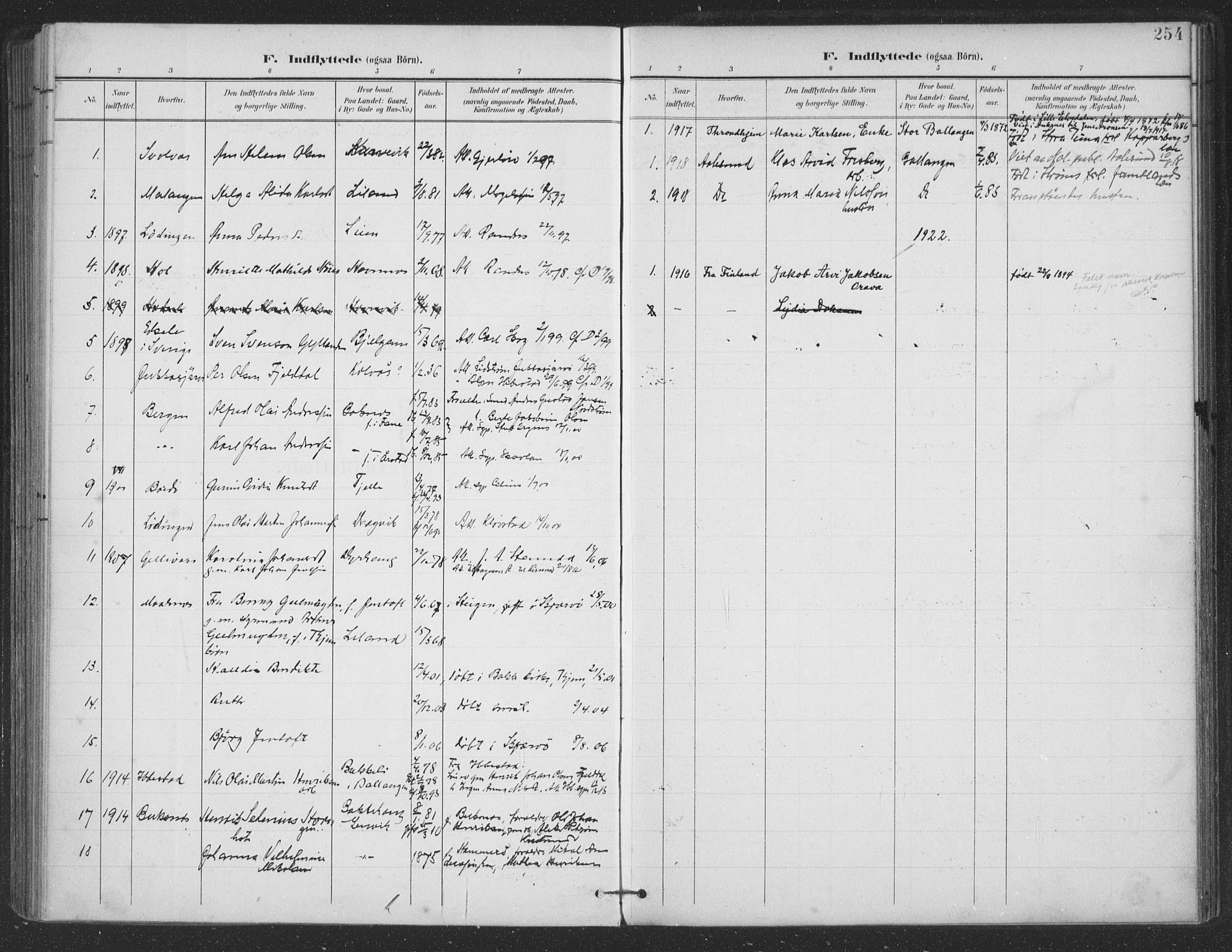 SAT, Ministerialprotokoller, klokkerbøker og fødselsregistre - Nordland, 863/L0899: Ministerialbok nr. 863A11, 1897-1906, s. 254