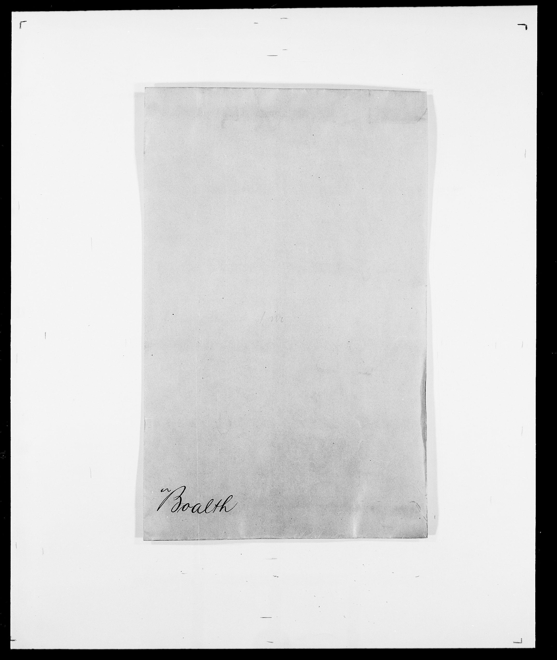 SAO, Delgobe, Charles Antoine - samling, D/Da/L0005: Boalth - Brahm, s. 1