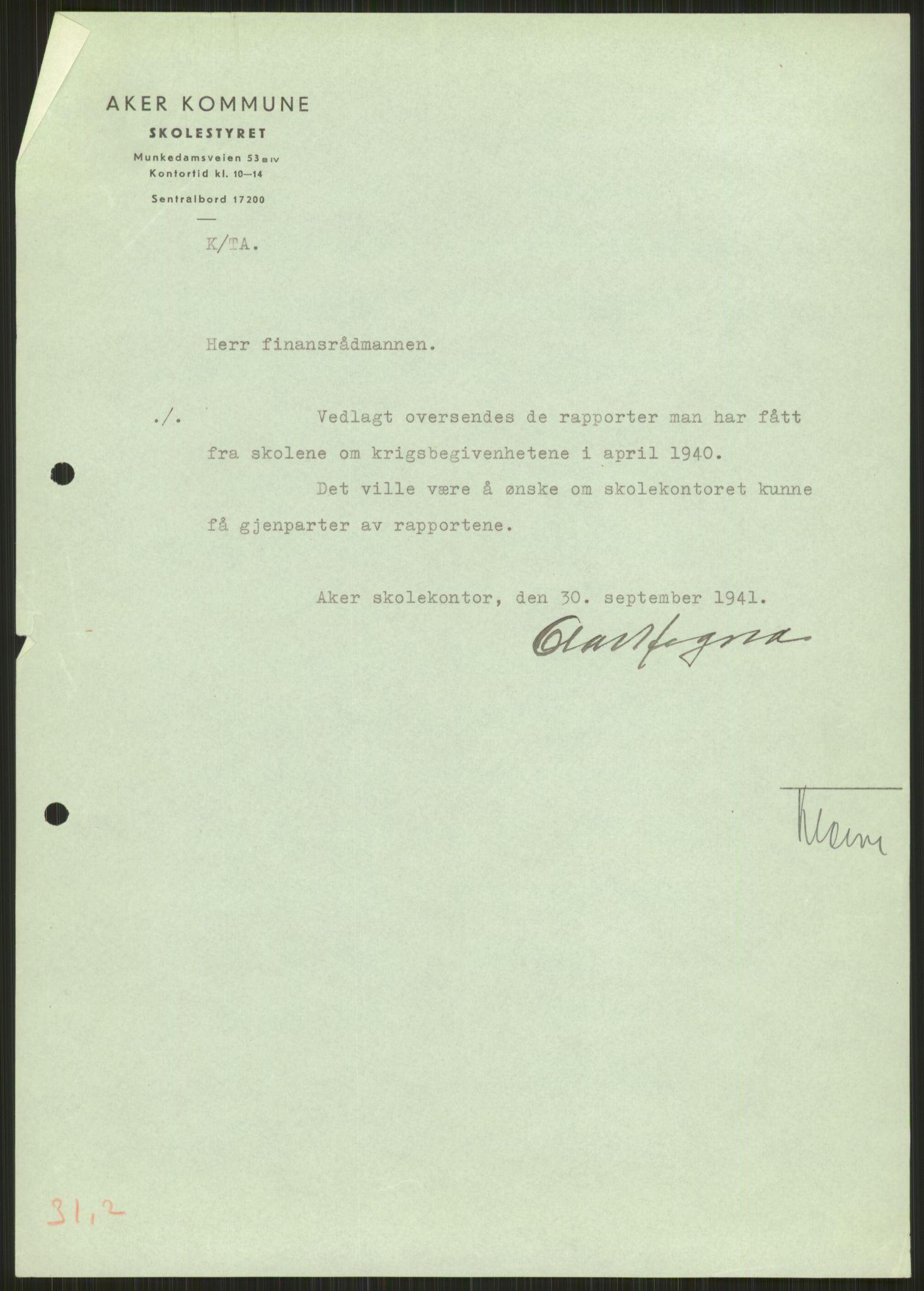 RA, Forsvaret, Forsvarets krigshistoriske avdeling, Y/Ya/L0013: II-C-11-31 - Fylkesmenn.  Rapporter om krigsbegivenhetene 1940., 1940, s. 223