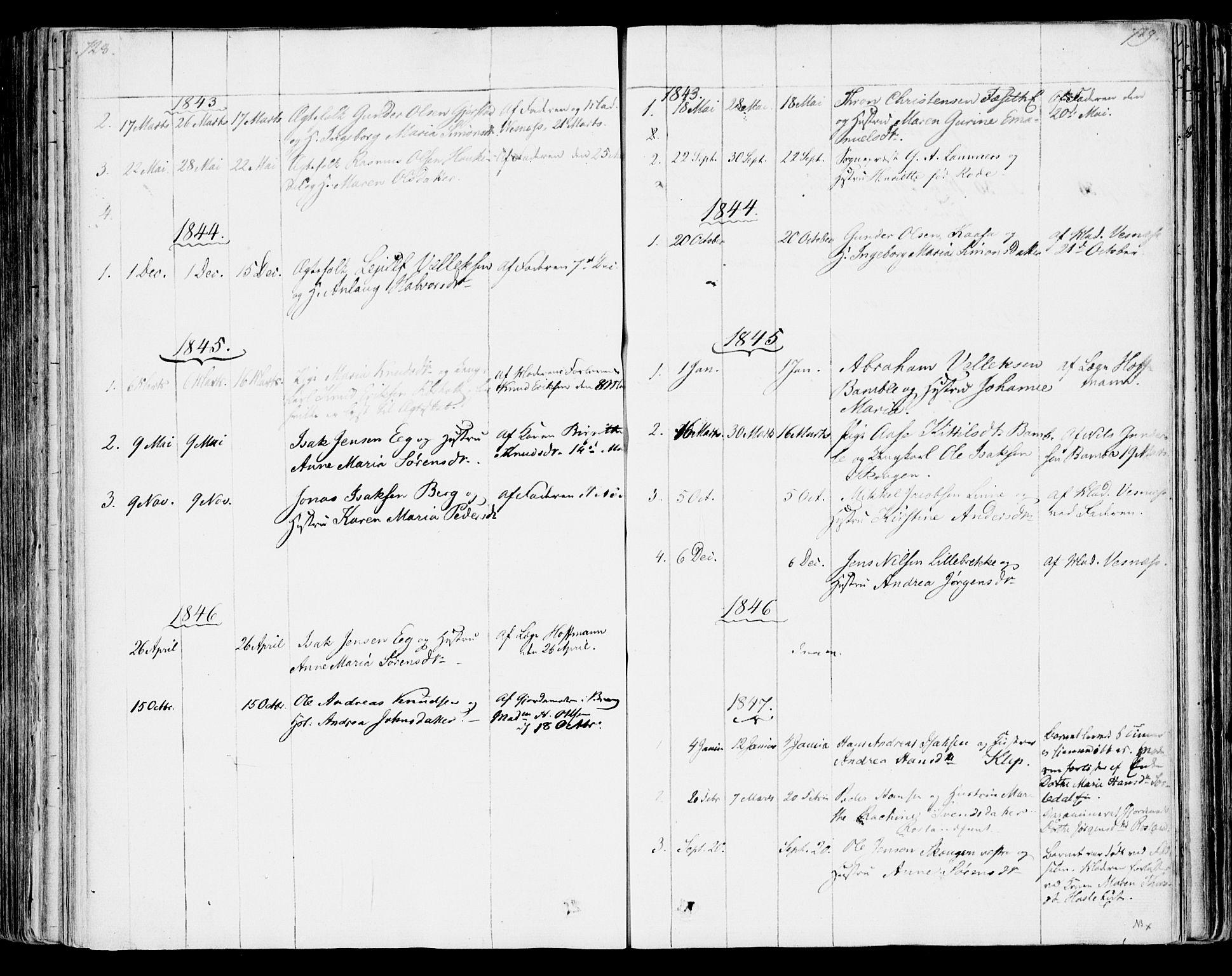 SAKO, Bamble kirkebøker, F/Fa/L0004: Ministerialbok nr. I 4, 1834-1853, s. 728-729