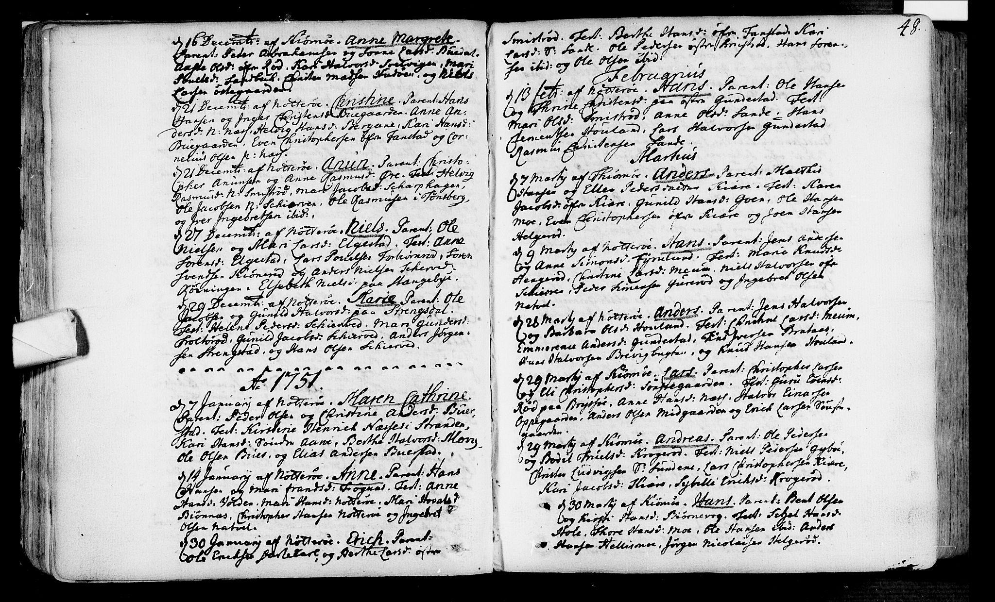 SAKO, Nøtterøy kirkebøker, F/Fa/L0002: Ministerialbok nr. I 2, 1738-1790, s. 48