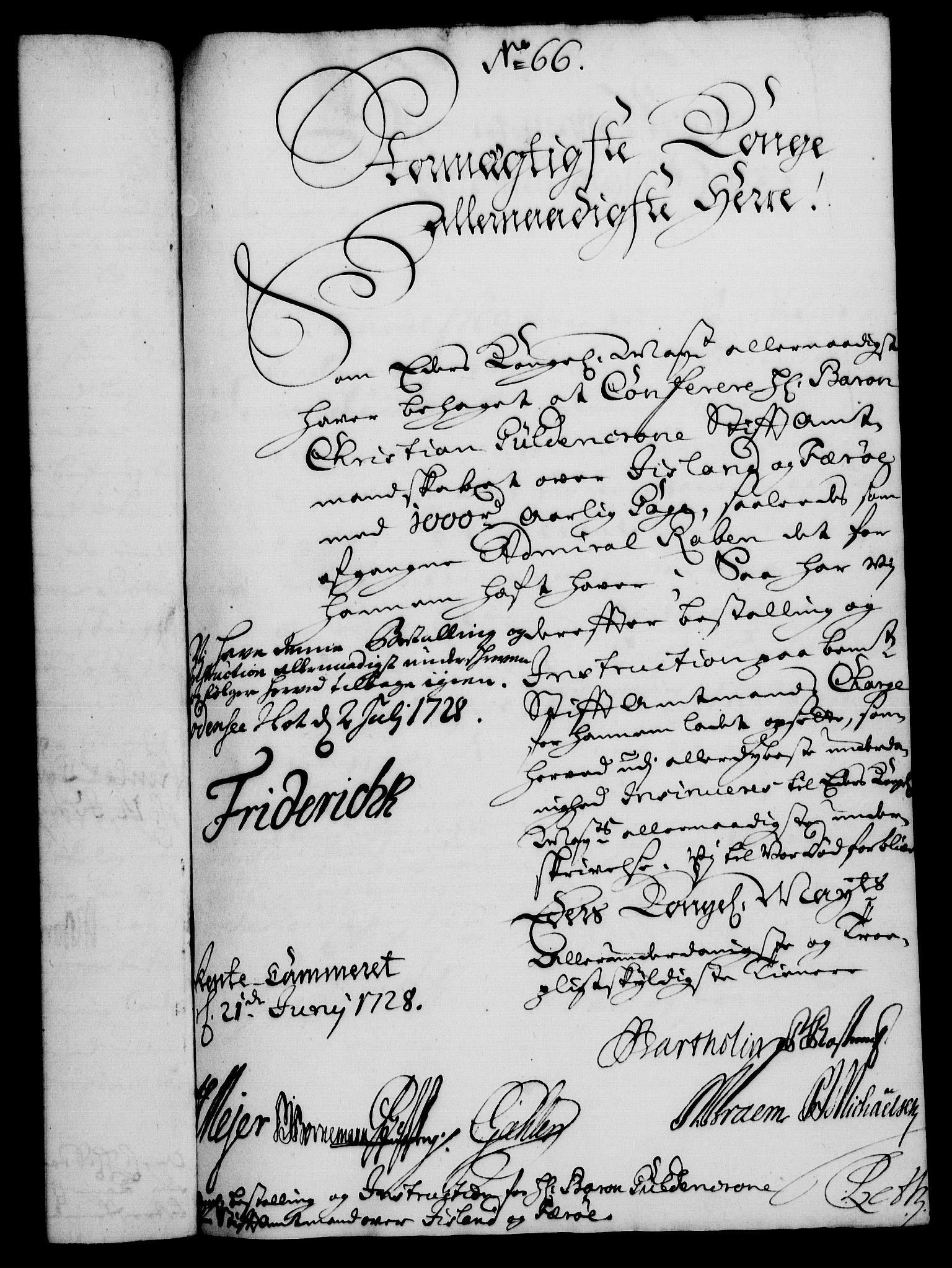 RA, Rentekammeret, Kammerkanselliet, G/Gf/Gfa/L0011: Norsk relasjons- og resolusjonsprotokoll (merket RK 52.11), 1728, s. 458