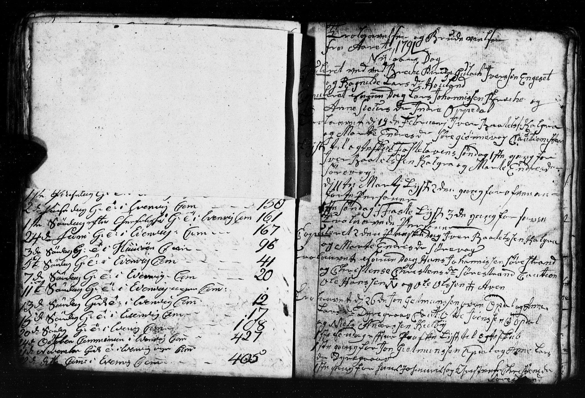 SAB, Gulen Sokneprestembete, Klokkerbok nr. A 2, 1791-1814