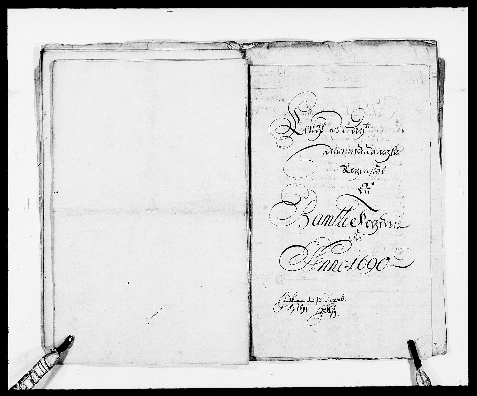 RA, Rentekammeret inntil 1814, Reviderte regnskaper, Fogderegnskap, R34/L2050: Fogderegnskap Bamble, 1688-1691, s. 19