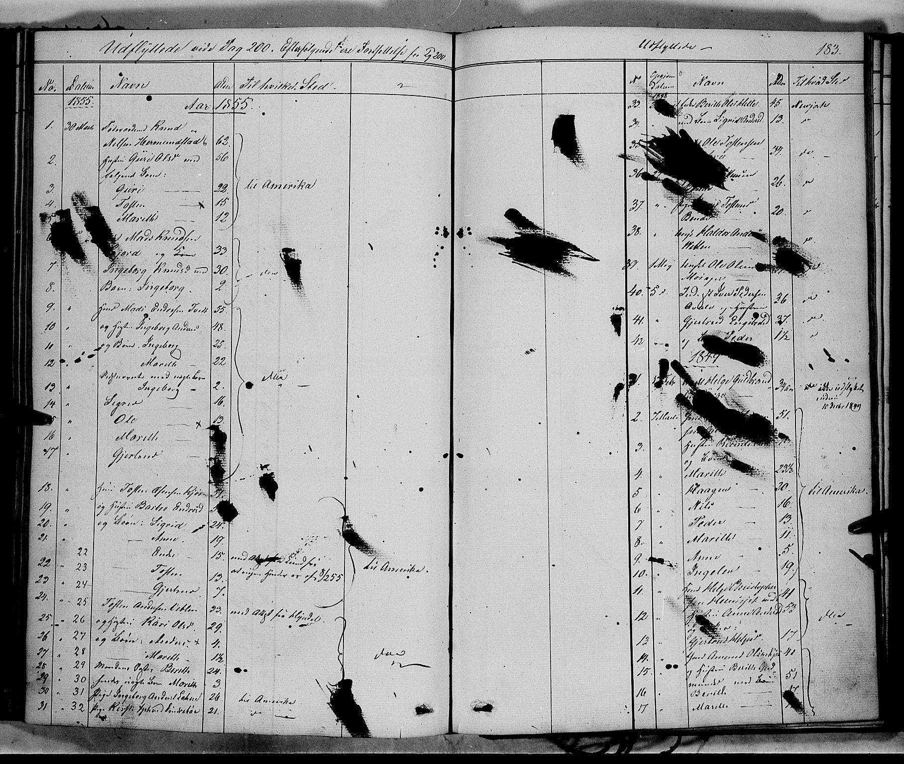 SAH, Vang prestekontor, Valdres, Ministerialbok nr. 6, 1846-1864, s. 183