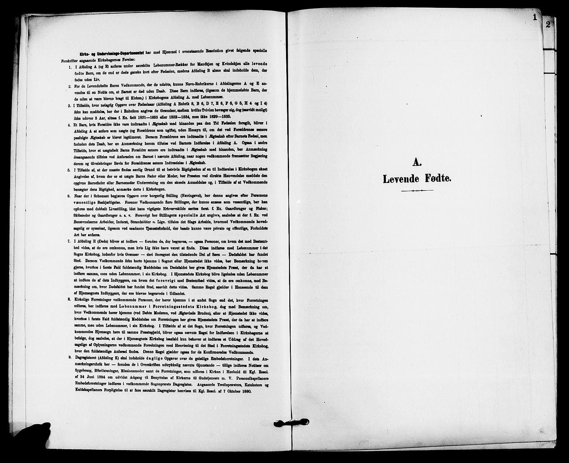 SAKO, Solum kirkebøker, G/Gb/L0004: Klokkerbok nr. II 4, 1898-1905, s. 1