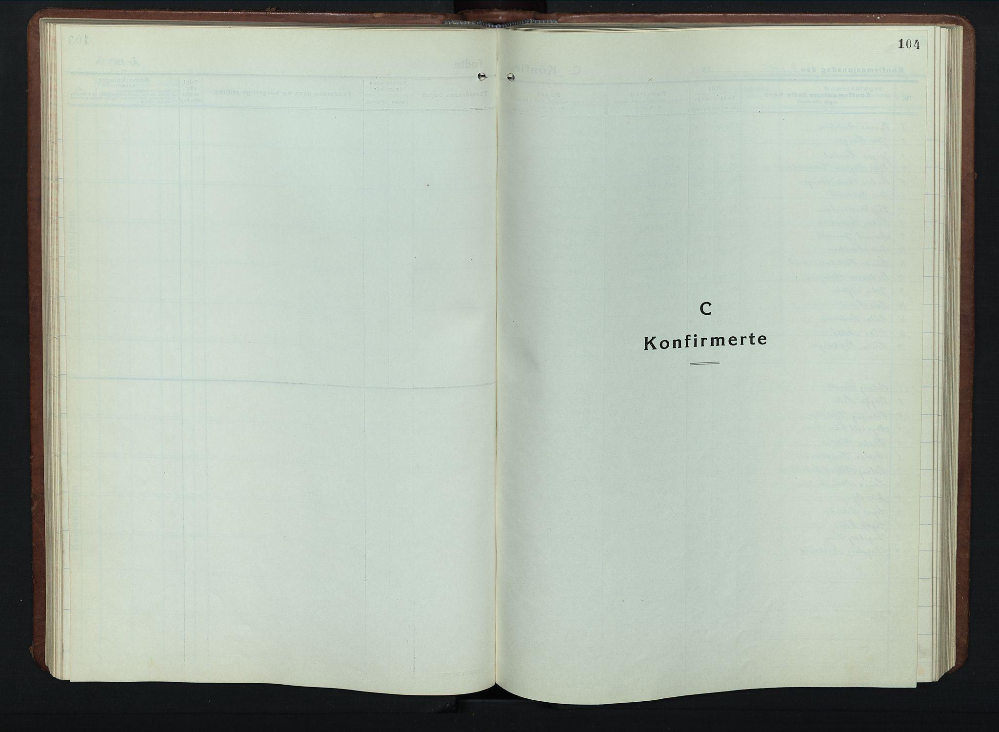 SAH, Vestre Gausdal prestekontor, Klokkerbok nr. 5, 1926-1955, s. 104