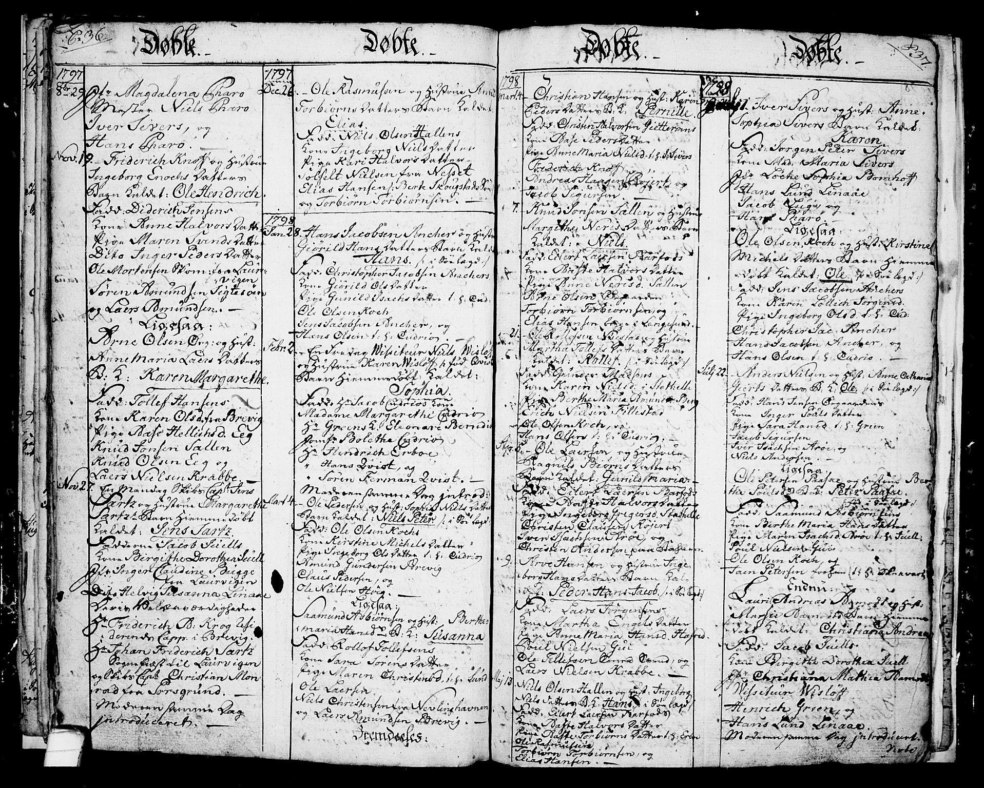 SAKO, Langesund kirkebøker, G/Ga/L0001: Klokkerbok nr. 1, 1783-1801, s. 36-37