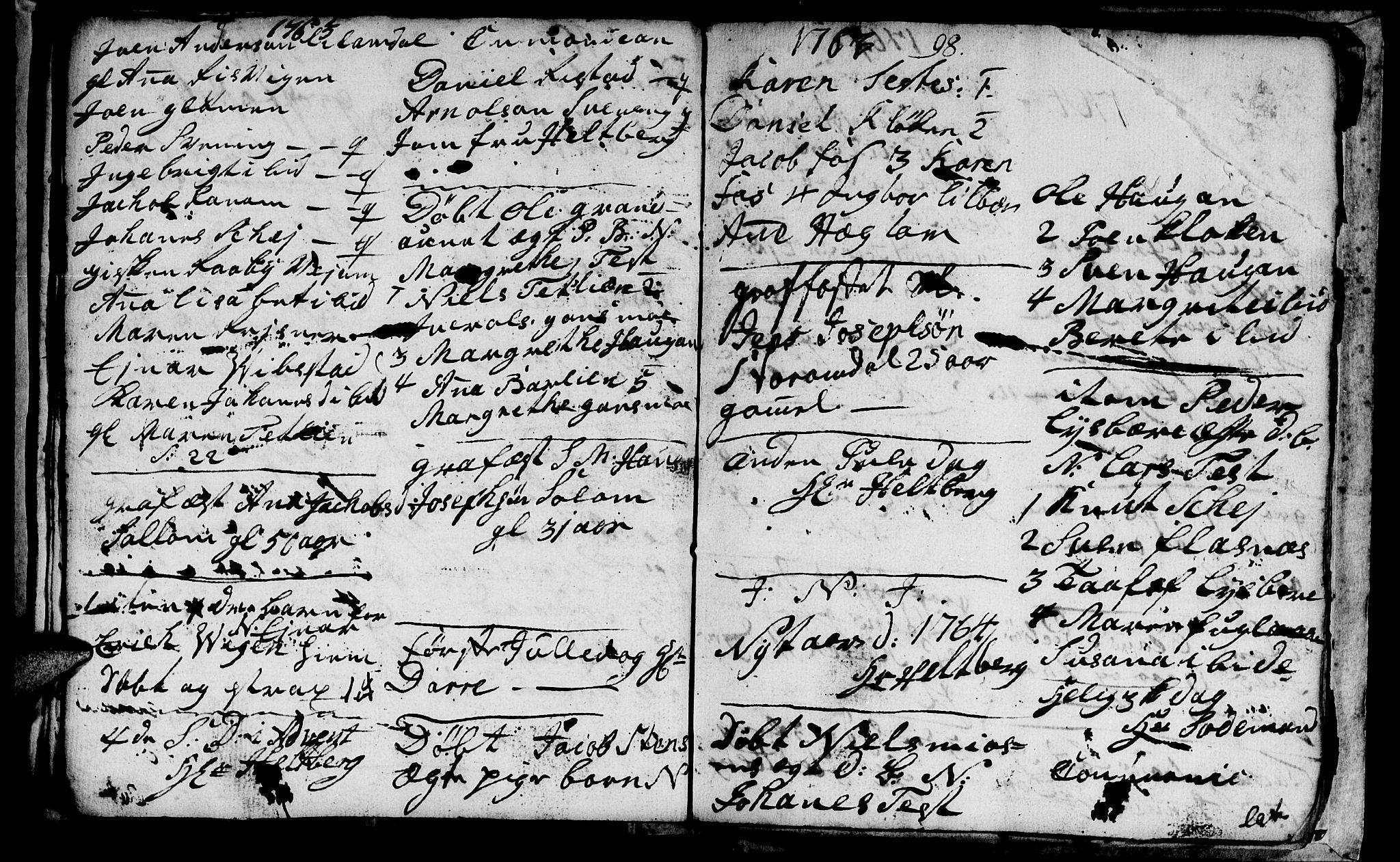 SAT, Ministerialprotokoller, klokkerbøker og fødselsregistre - Nord-Trøndelag, 764/L0543: Ministerialbok nr. 764A03, 1758-1765, s. 98