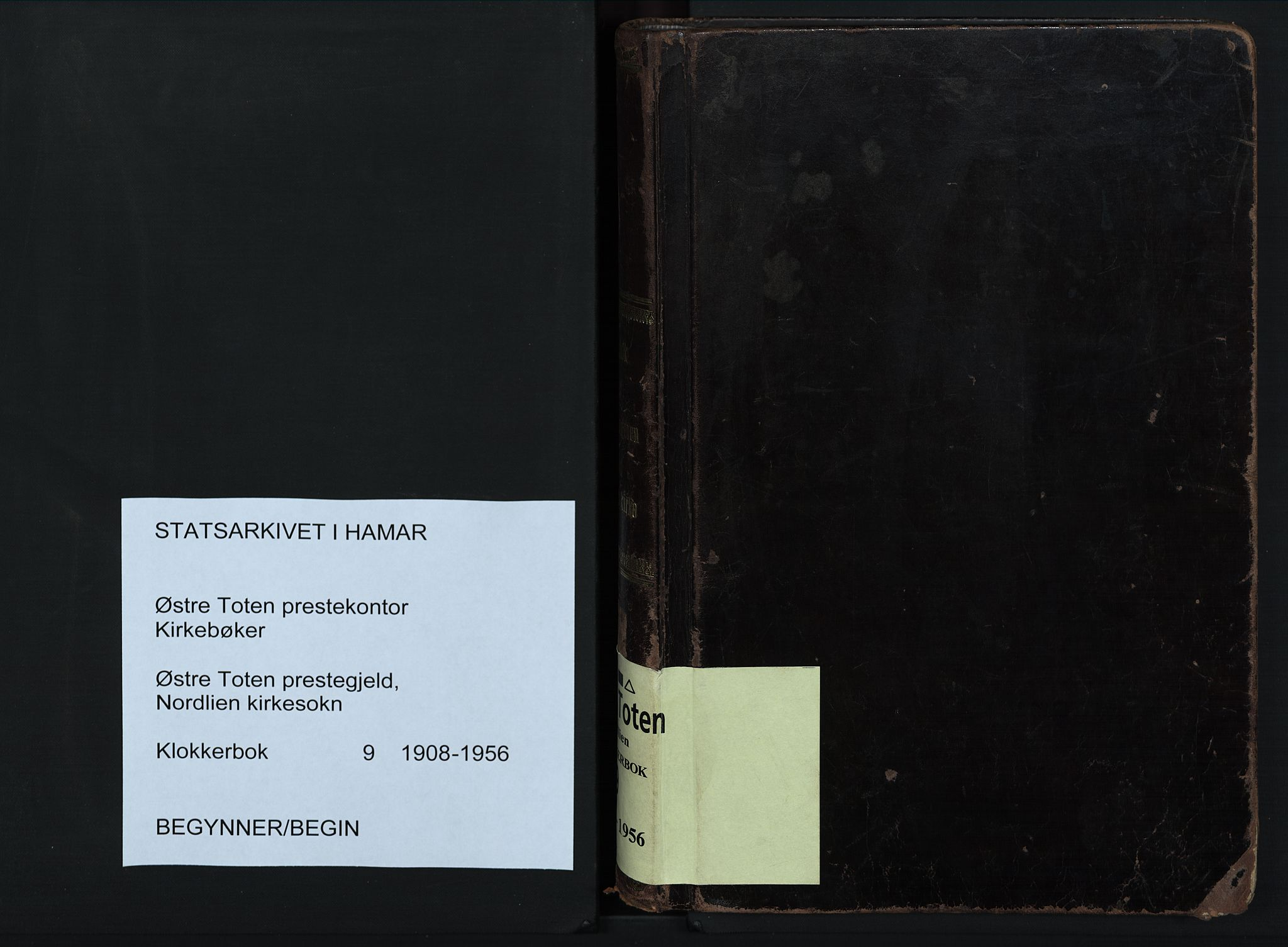 SAH, Østre Toten prestekontor, Klokkerbok nr. 9, 1908-1956