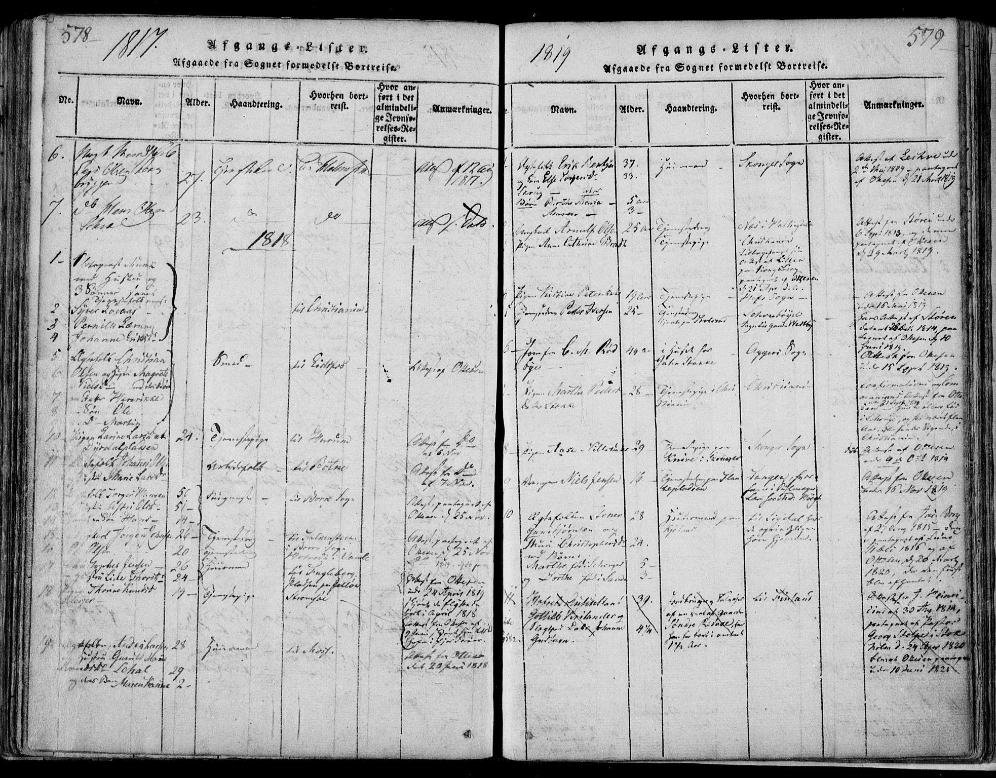 SAKO, Sande Kirkebøker, F/Fa/L0003: Ministerialbok nr. 3, 1814-1847, s. 578-579