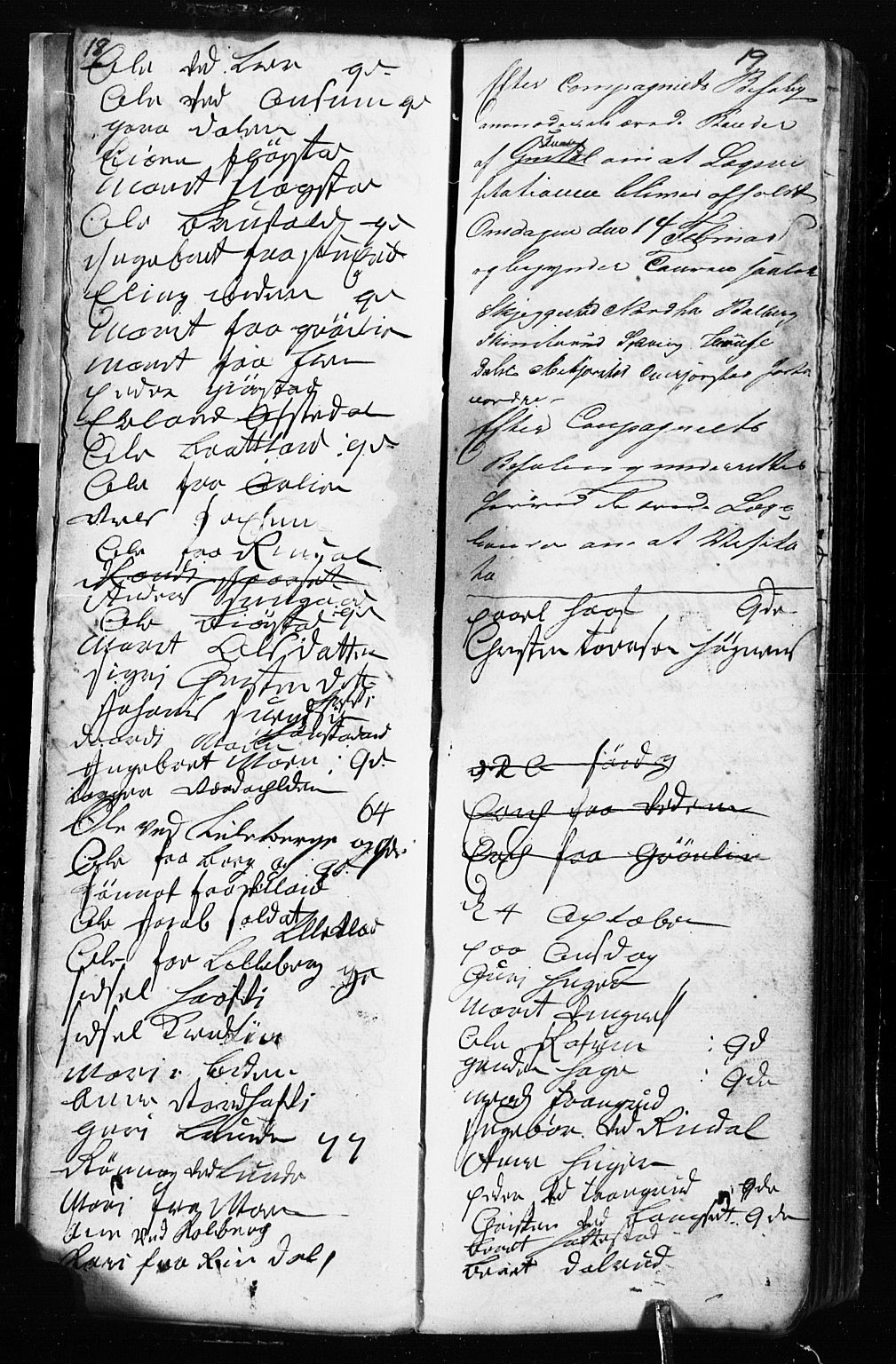 SAH, Fåberg prestekontor, Klokkerbok nr. 2, 1741-1756, s. 18-19