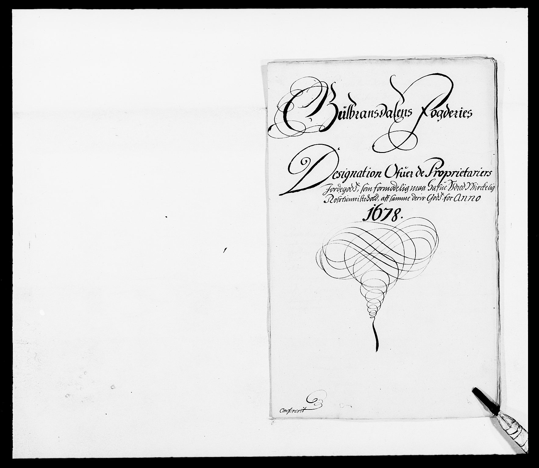 RA, Rentekammeret inntil 1814, Reviderte regnskaper, Fogderegnskap, R17/L1153: Fogderegnskap Gudbrandsdal, 1678-1679, s. 2
