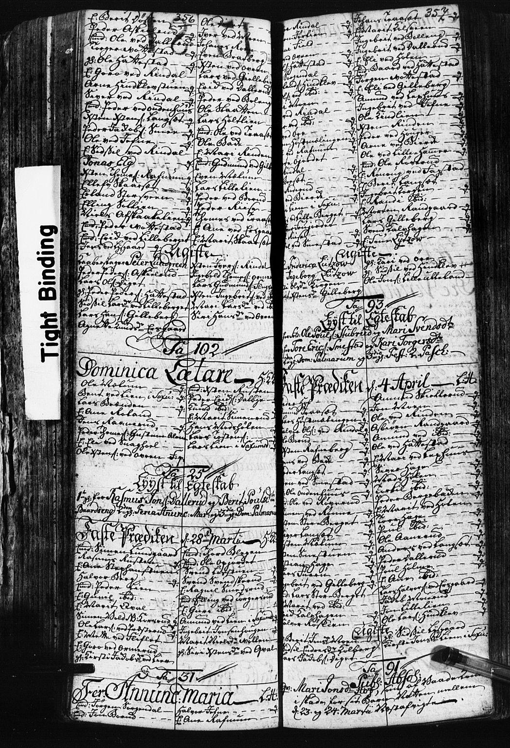 SAH, Fåberg prestekontor, Klokkerbok nr. 3, 1768-1796, s. 356-357