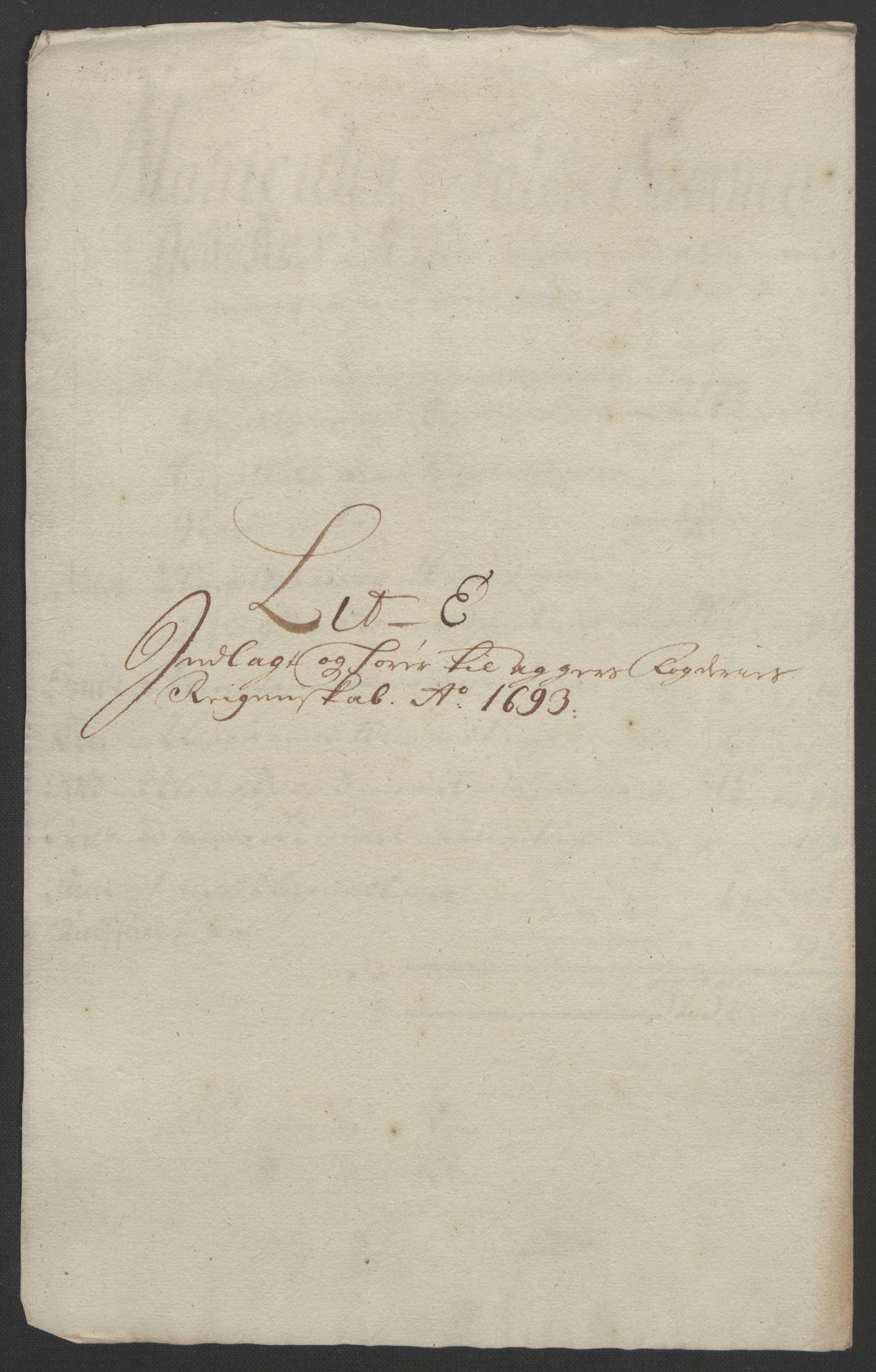 RA, Rentekammeret inntil 1814, Reviderte regnskaper, Fogderegnskap, R08/L0426: Fogderegnskap Aker, 1692-1693, s. 339