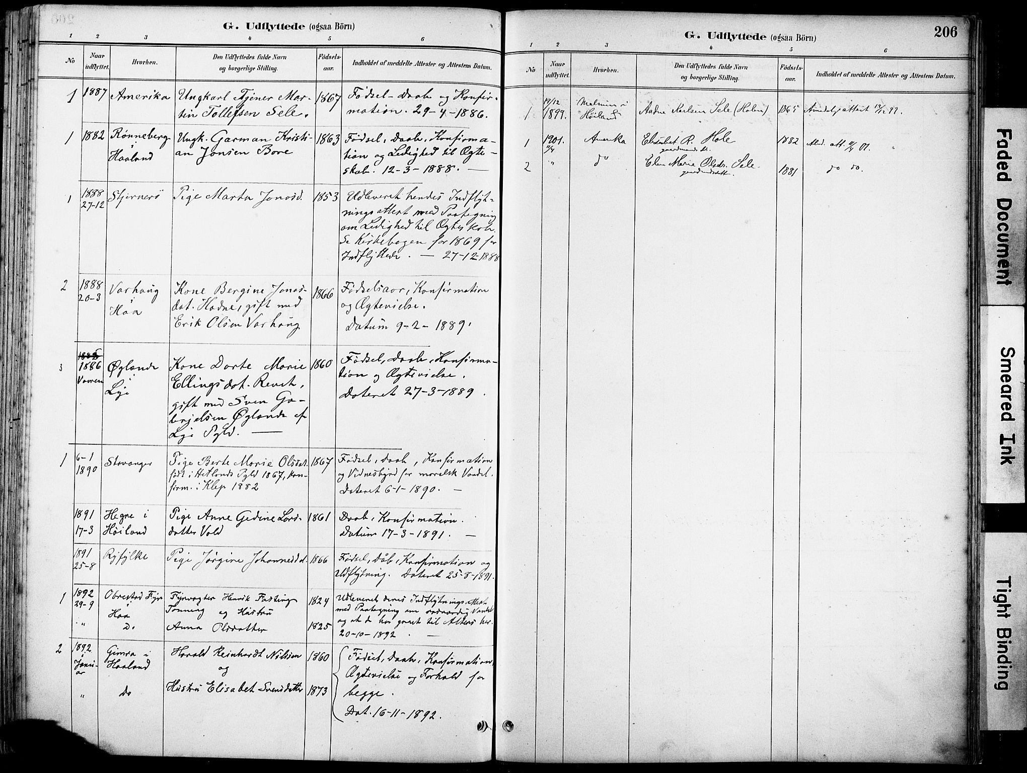 SAST, Klepp sokneprestkontor, 3/30BA/L0008: Ministerialbok nr. A 9, 1886-1919, s. 206