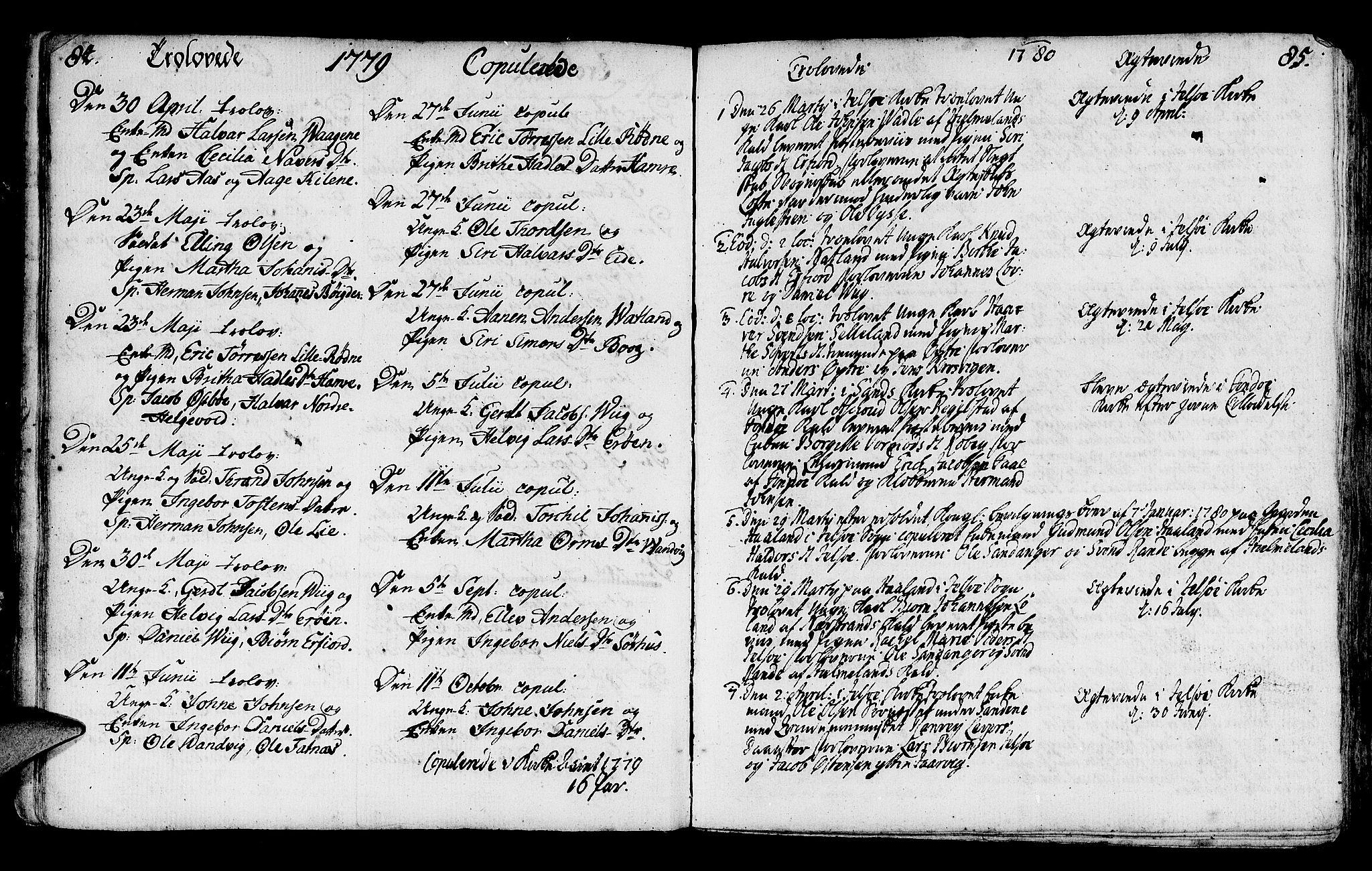 SAST, Jelsa sokneprestkontor, IV: Ministerialbok nr. A 3, 1768-1796, s. 84-85
