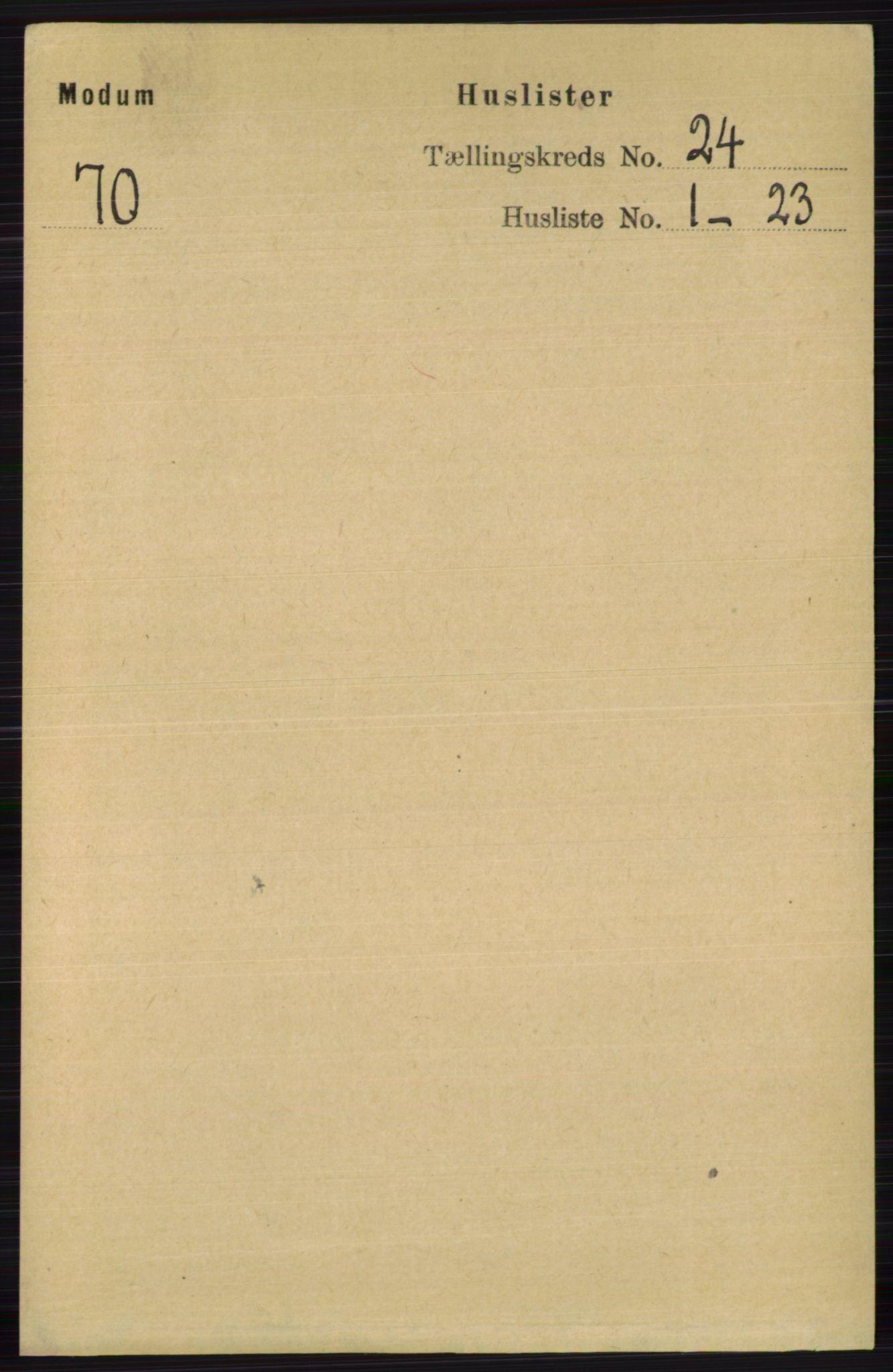 RA, Folketelling 1891 for 0623 Modum herred, 1891, s. 8816