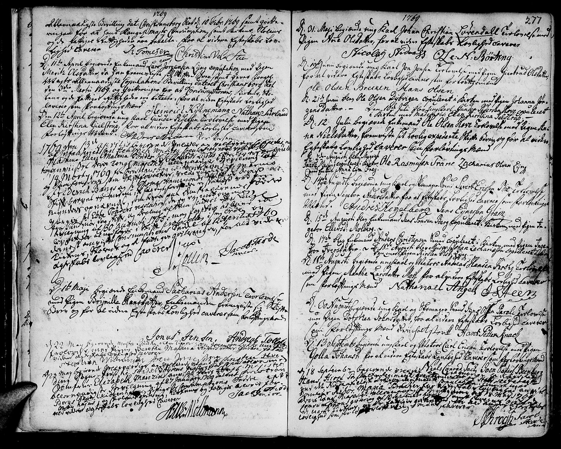 SAT, Ministerialprotokoller, klokkerbøker og fødselsregistre - Sør-Trøndelag, 601/L0038: Ministerialbok nr. 601A06, 1766-1877, s. 277