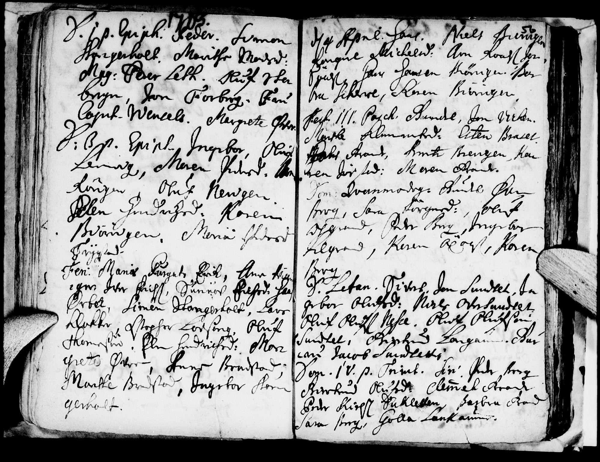 SAT, Ministerialprotokoller, klokkerbøker og fødselsregistre - Nord-Trøndelag, 722/L0214: Ministerialbok nr. 722A01, 1692-1718, s. 56