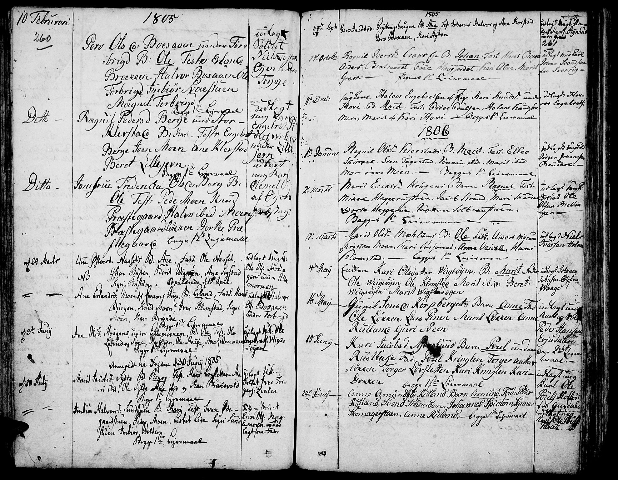SAH, Fron prestekontor, H/Ha/Haa/L0001: Ministerialbok nr. 1, 1799-1816, s. 260-261
