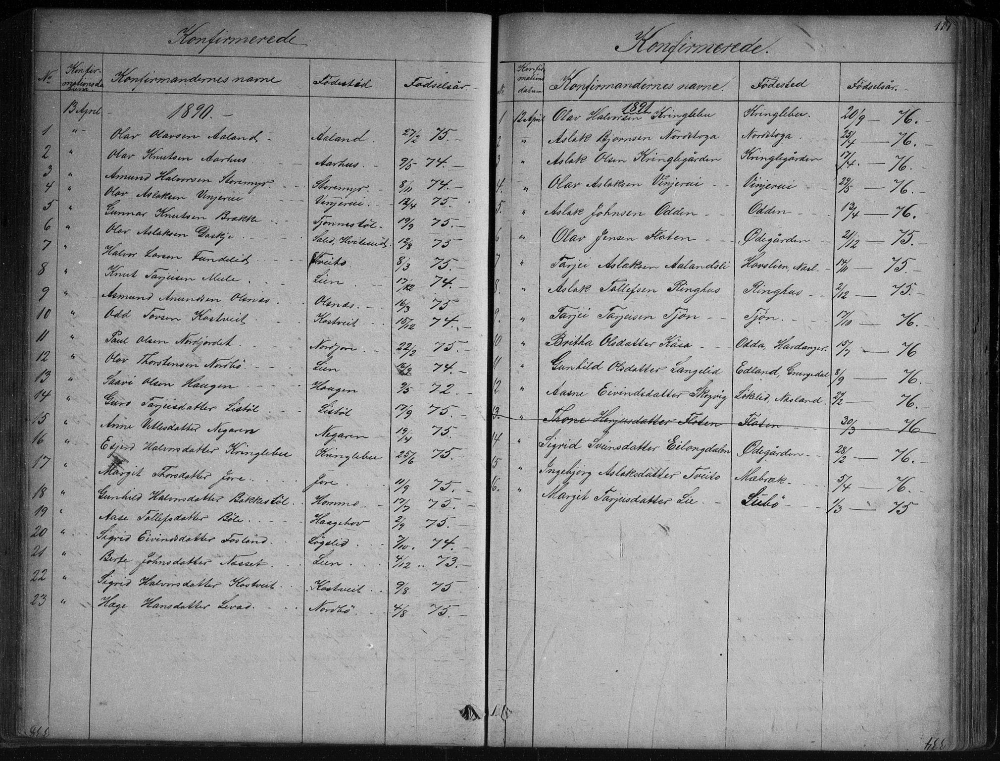 SAKO, Vinje kirkebøker, G/Ga/L0002: Klokkerbok nr. I 2, 1849-1893, s. 117