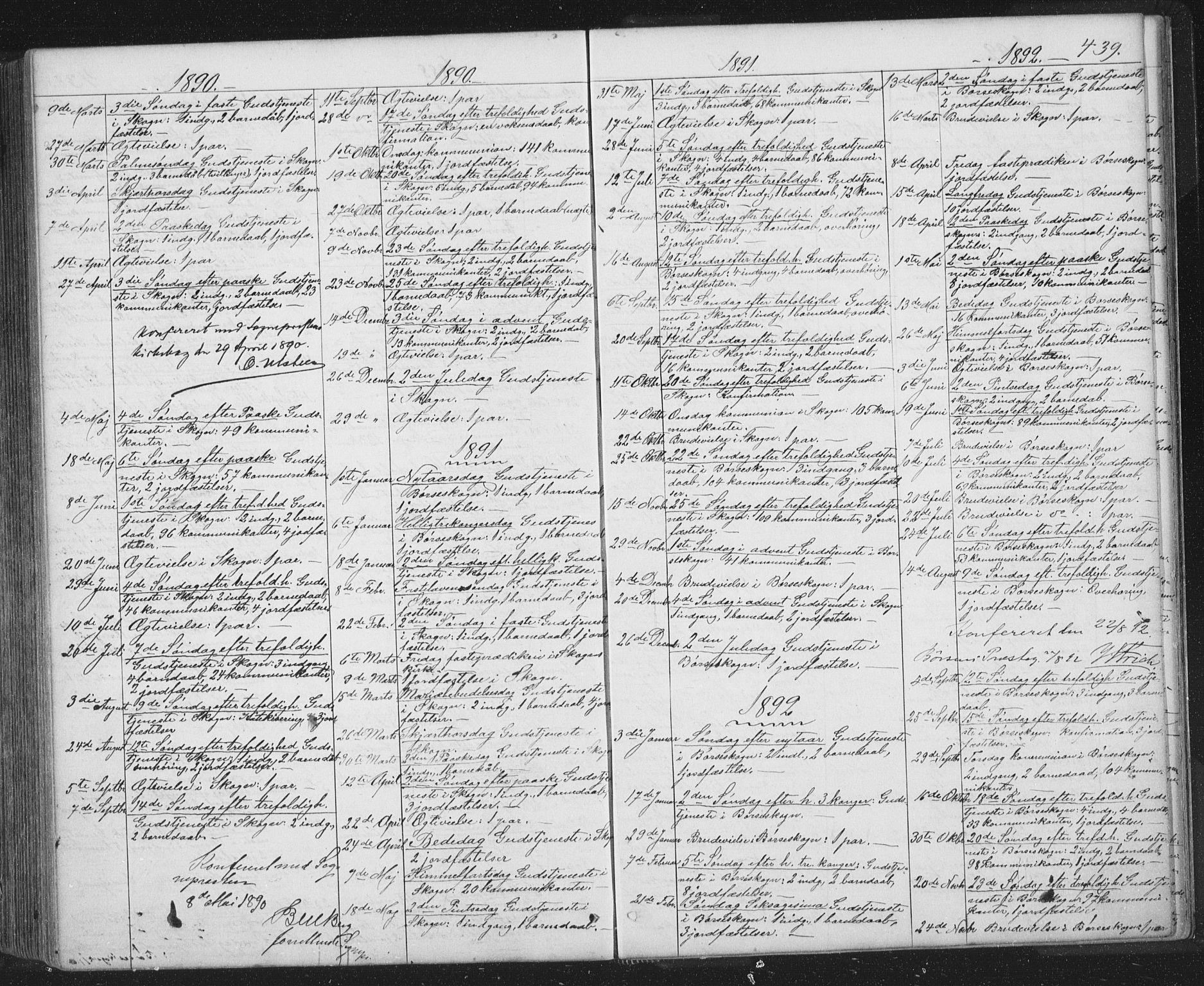 SAT, Ministerialprotokoller, klokkerbøker og fødselsregistre - Sør-Trøndelag, 667/L0798: Klokkerbok nr. 667C03, 1867-1929, s. 439