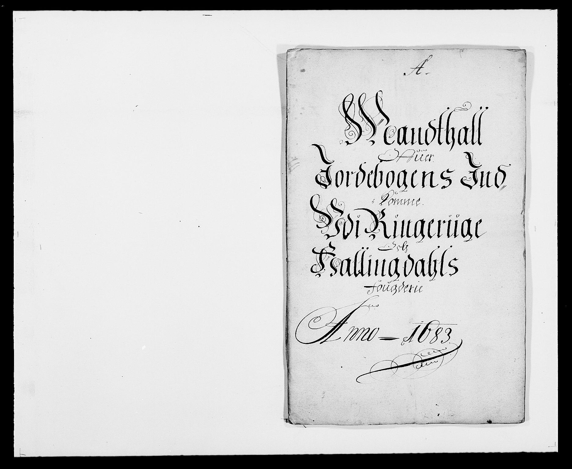 RA, Rentekammeret inntil 1814, Reviderte regnskaper, Fogderegnskap, R21/L1446: Fogderegnskap Ringerike og Hallingdal, 1683-1686, s. 6