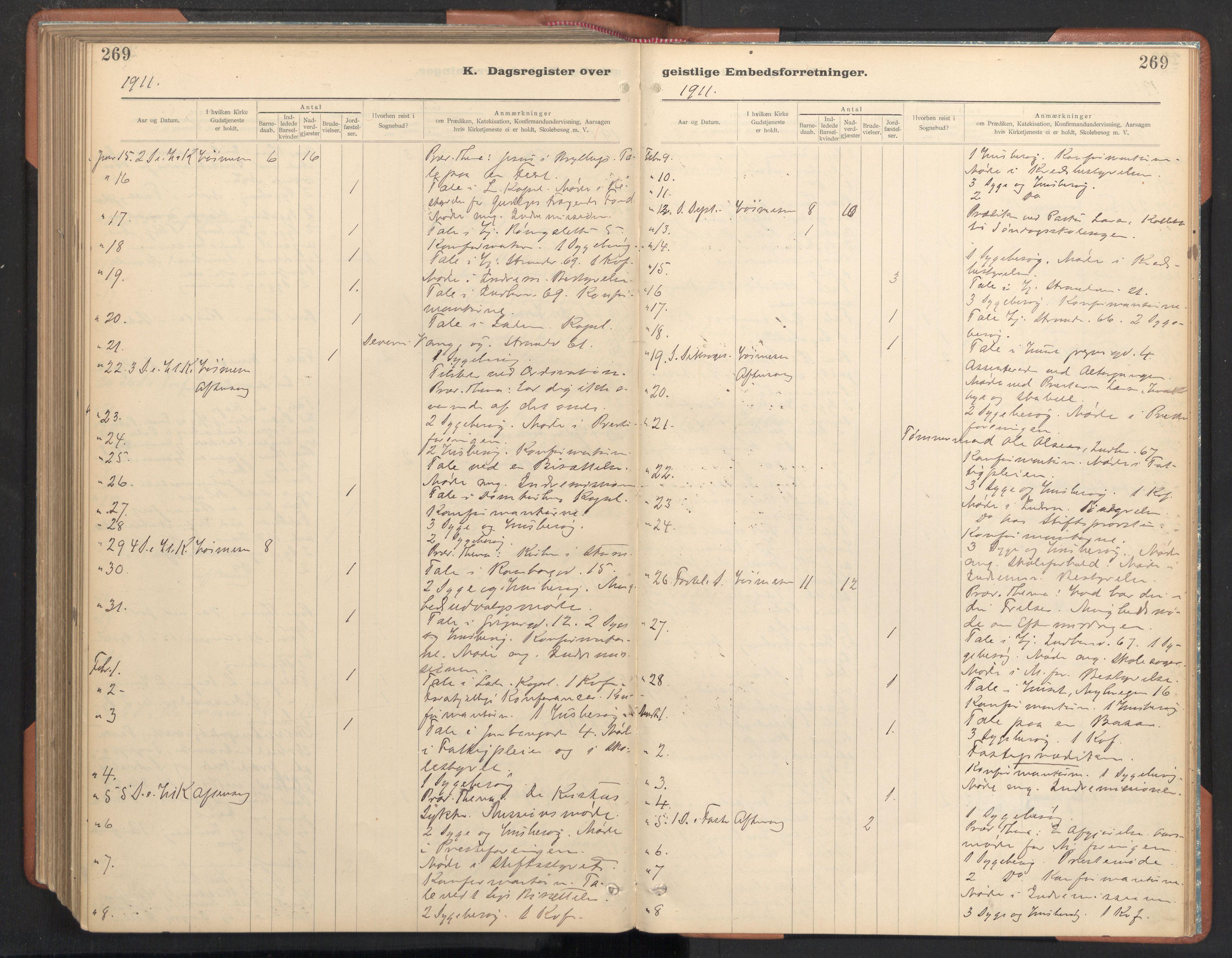 SAT, Ministerialprotokoller, klokkerbøker og fødselsregistre - Sør-Trøndelag, 605/L0244: Ministerialbok nr. 605A06, 1908-1954, s. 269