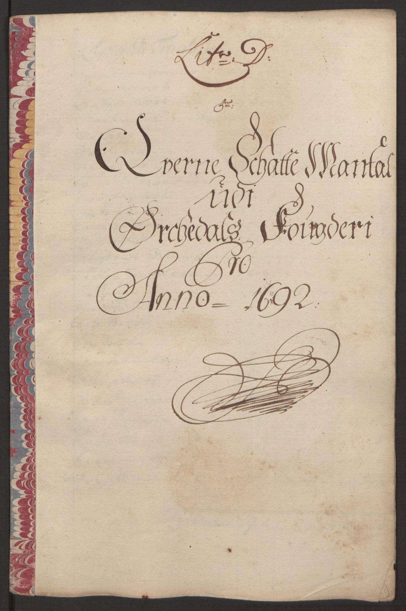 RA, Rentekammeret inntil 1814, Reviderte regnskaper, Fogderegnskap, R58/L3937: Fogderegnskap Orkdal, 1691-1692, s. 236