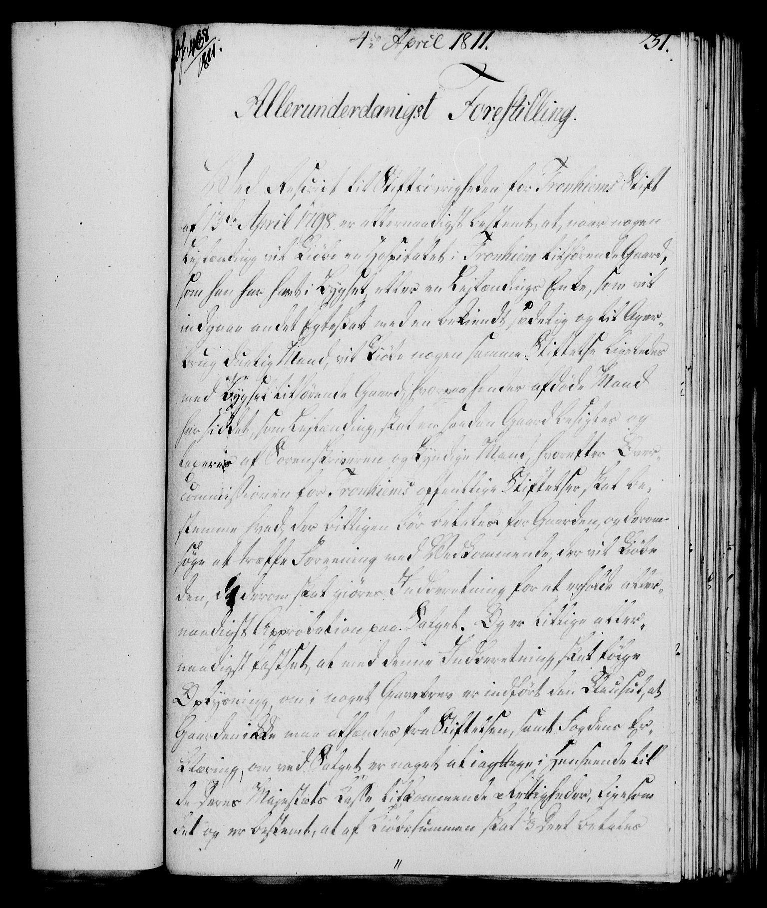 RA, Rentekammeret, Kammerkanselliet, G/Gf/Gfa/L0093: Norsk relasjons- og resolusjonsprotokoll (merket RK 52.93), 1811, s. 135