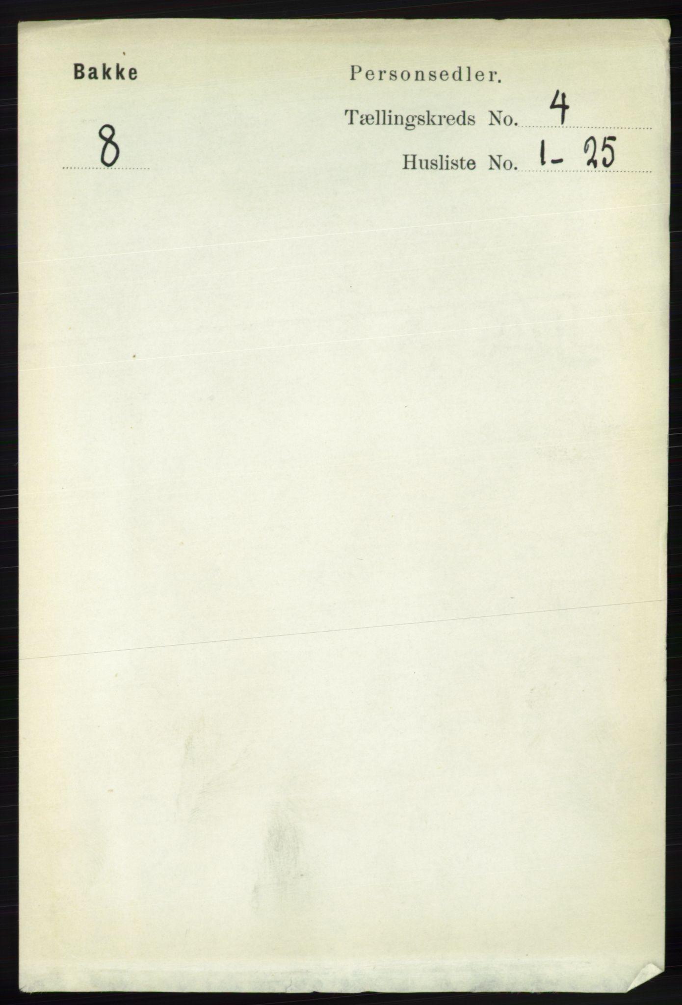 RA, Folketelling 1891 for 1045 Bakke herred, 1891, s. 623