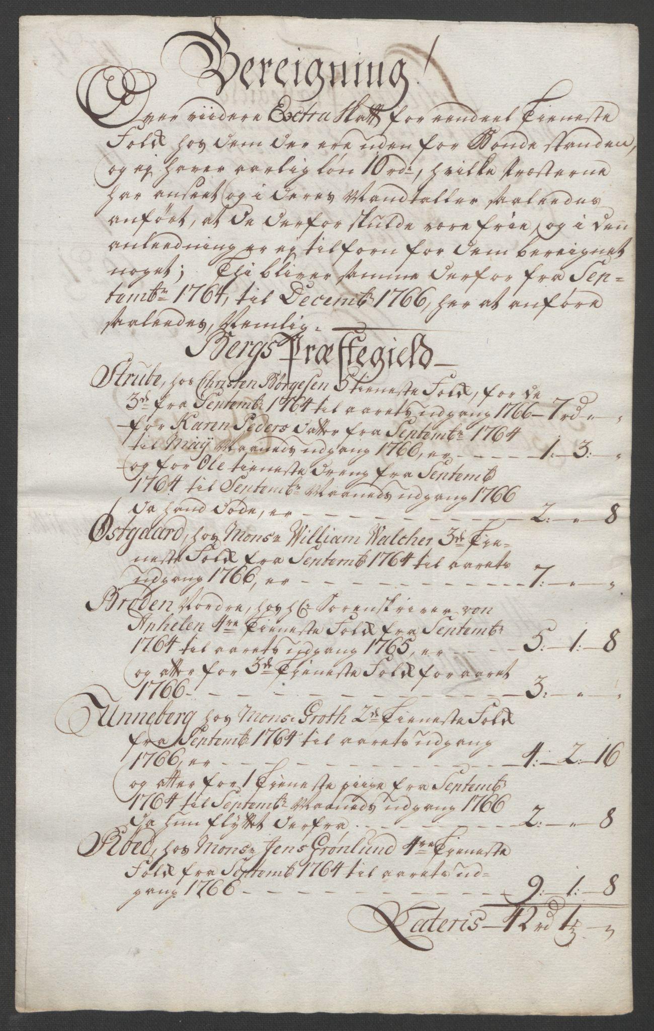 RA, Rentekammeret inntil 1814, Reviderte regnskaper, Fogderegnskap, R01/L0097: Ekstraskatten Idd og Marker, 1756-1767, s. 320