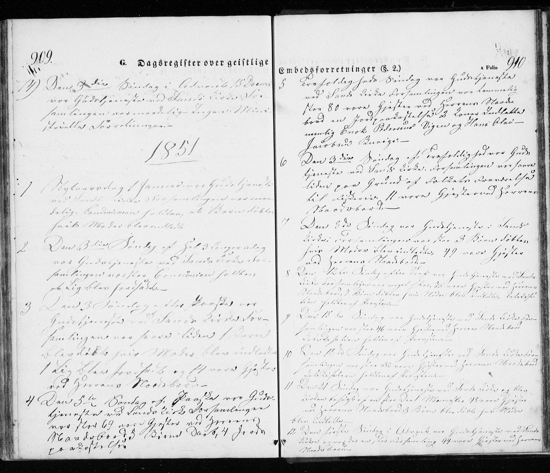 SATØ, Trondenes sokneprestkontor, H/Ha/L0010kirke: Ministerialbok nr. 10, 1840-1865, s. 909-910