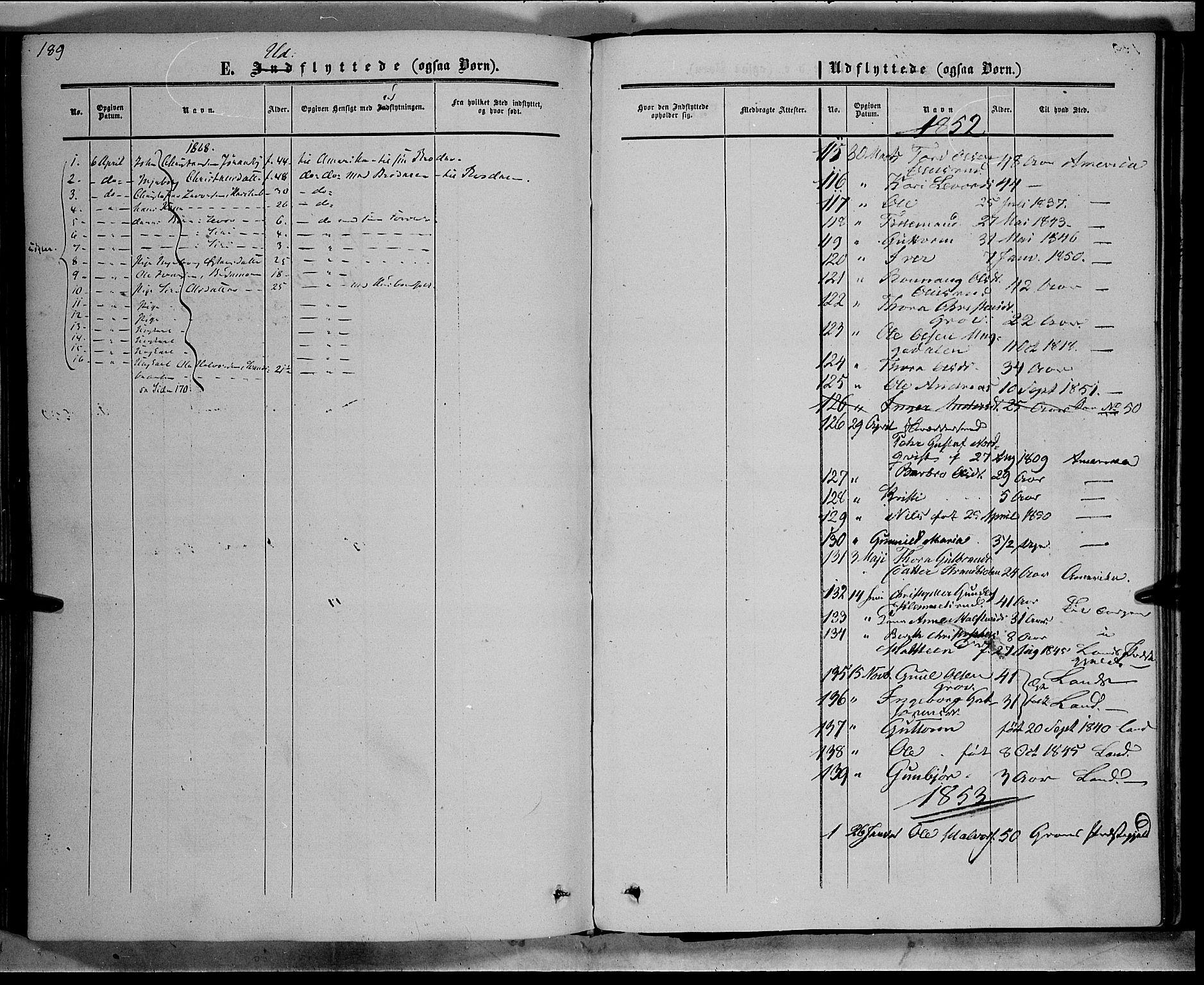 SAH, Sør-Aurdal prestekontor, Ministerialbok nr. 7, 1849-1876, s. 189