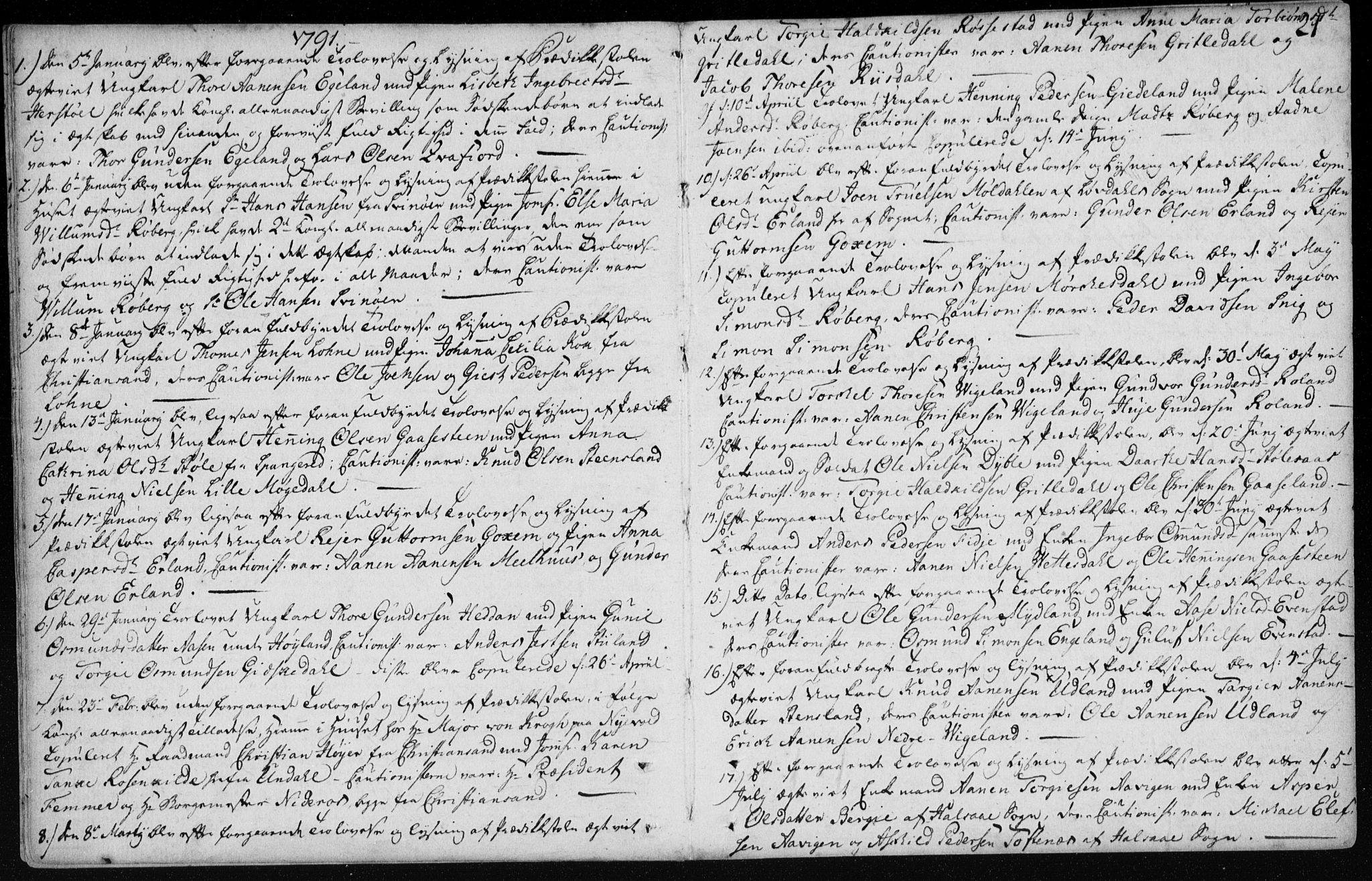 SAK, Sør-Audnedal sokneprestkontor, F/Fa/Fab/L0003: Ministerialbok nr. A 3, 1766-1828, s. 21