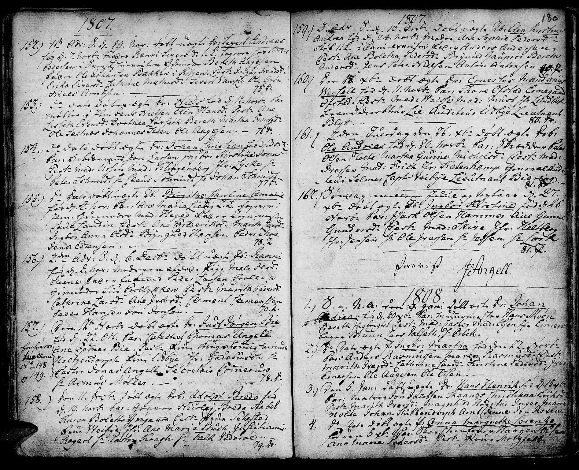 SAT, Ministerialprotokoller, klokkerbøker og fødselsregistre - Sør-Trøndelag, 601/L0039: Ministerialbok nr. 601A07, 1770-1819, s. 180