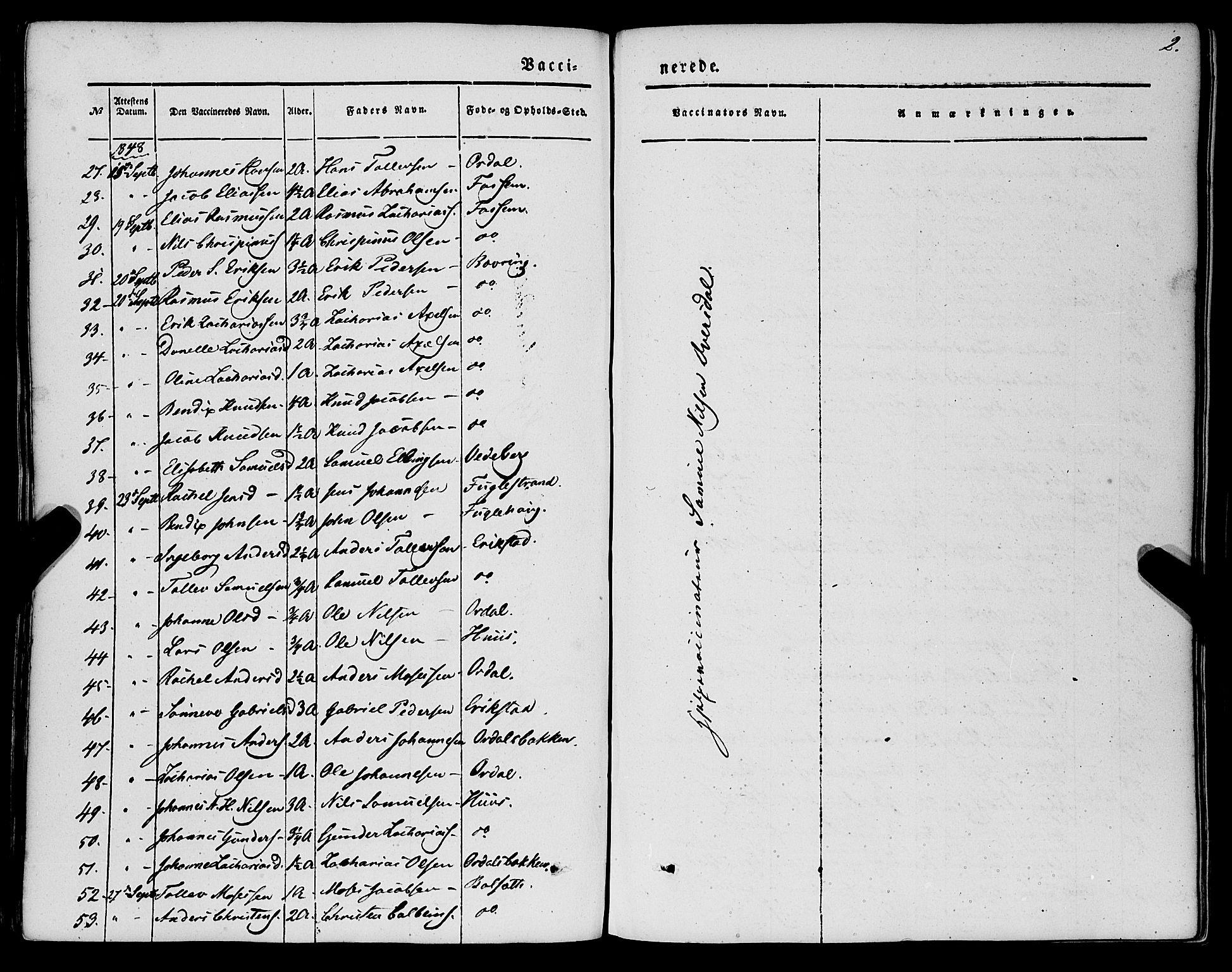 SAB, Jølster Sokneprestembete, H/Haa/Haaa/L0010: Ministerialbok nr. A 10, 1847-1865, s. 2