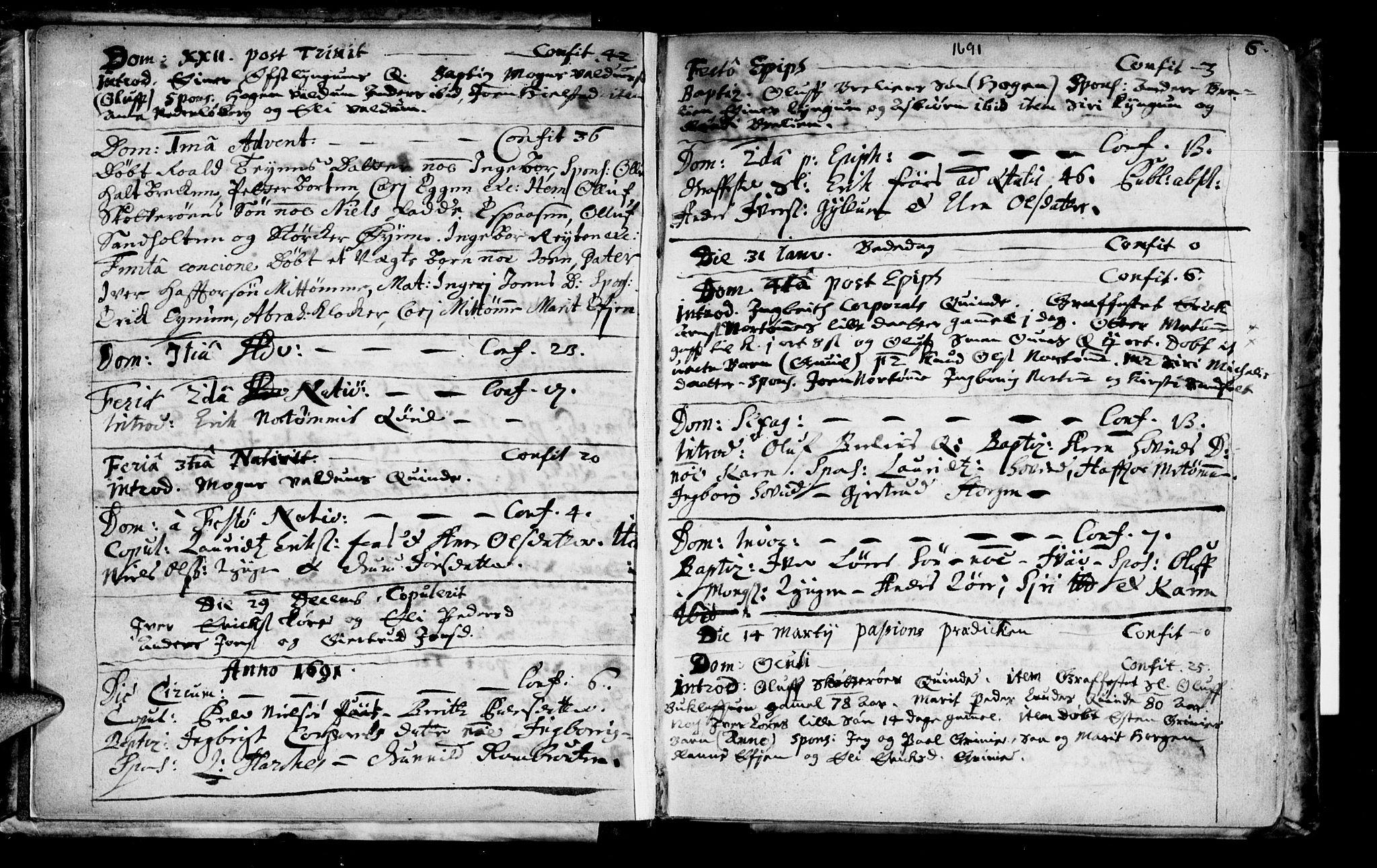 SAT, Ministerialprotokoller, klokkerbøker og fødselsregistre - Sør-Trøndelag, 692/L1101: Ministerialbok nr. 692A01, 1690-1746, s. 6