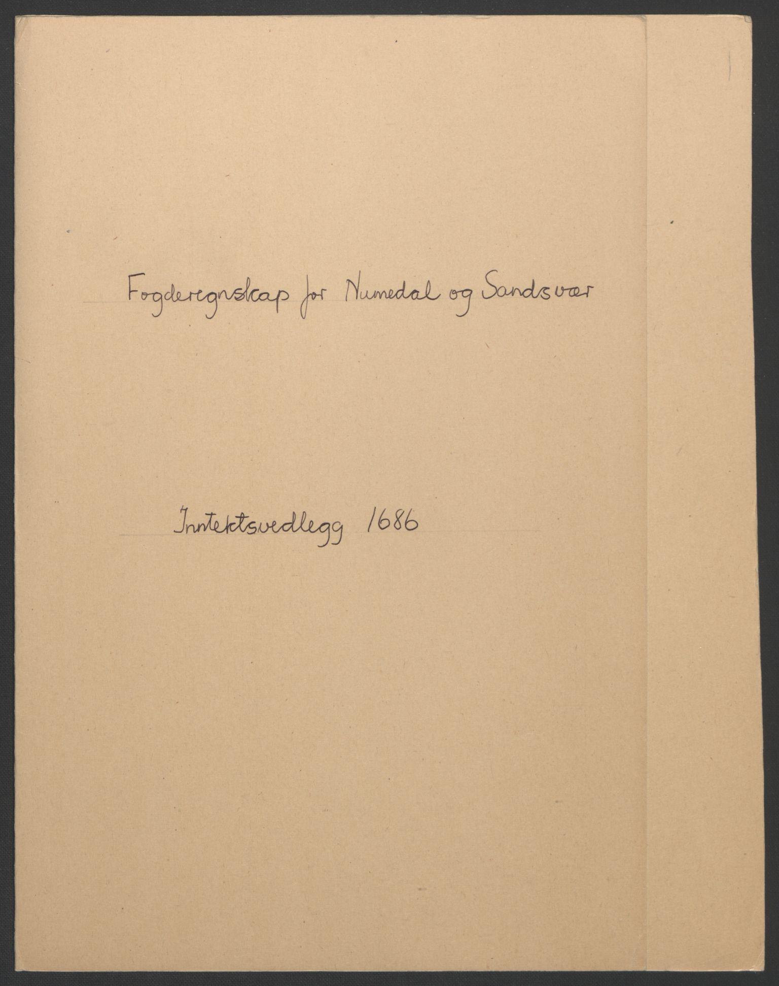 RA, Rentekammeret inntil 1814, Reviderte regnskaper, Fogderegnskap, R24/L1572: Fogderegnskap Numedal og Sandsvær, 1679-1686, s. 2