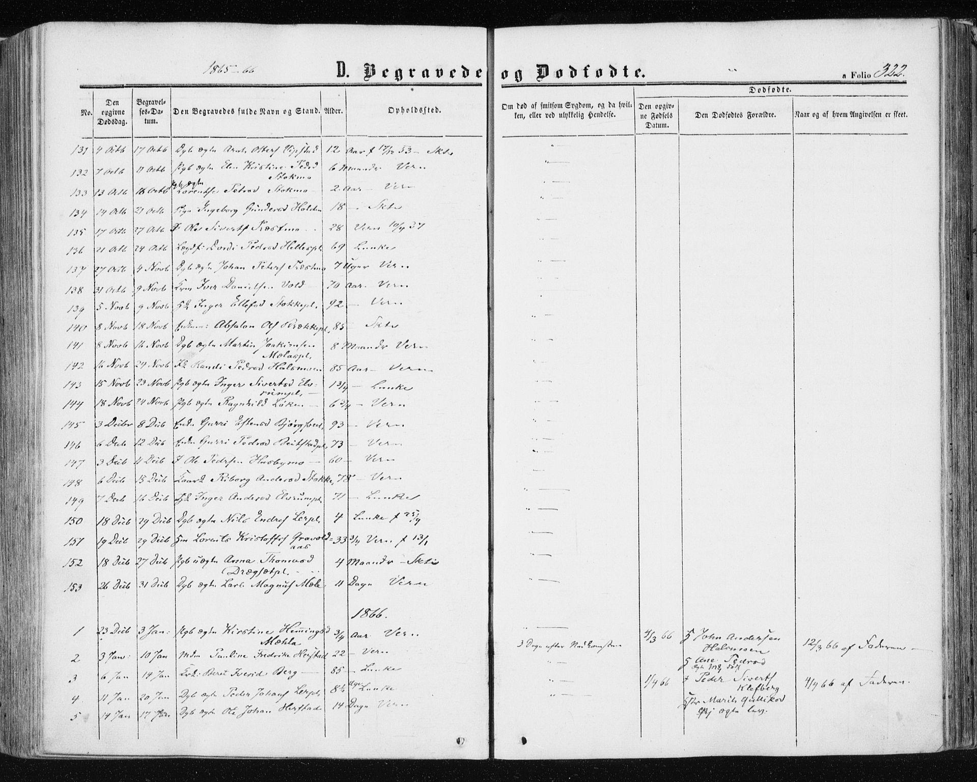 SAT, Ministerialprotokoller, klokkerbøker og fødselsregistre - Nord-Trøndelag, 709/L0075: Ministerialbok nr. 709A15, 1859-1870, s. 322