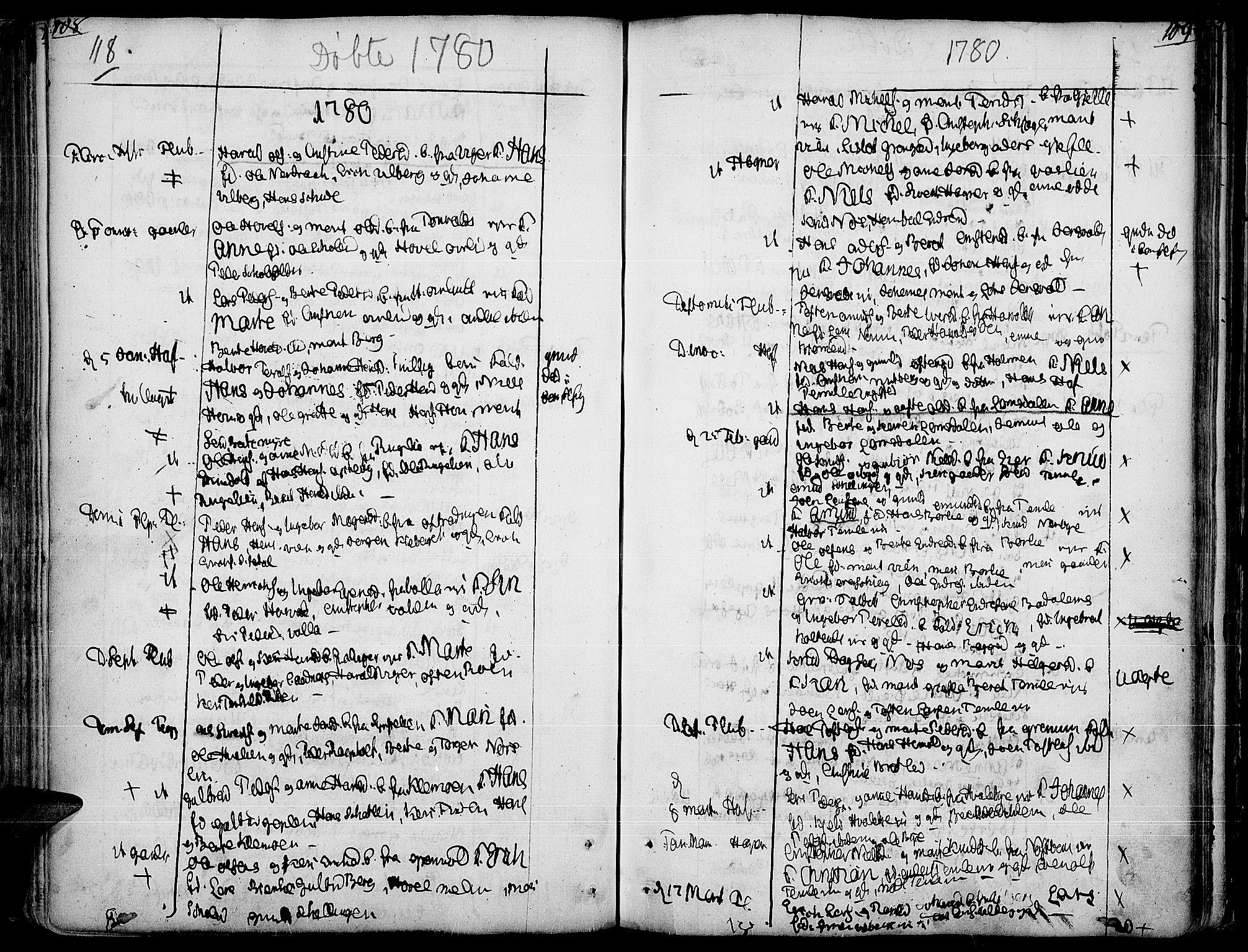 SAH, Land prestekontor, Ministerialbok nr. 5, 1765-1784, s. 118-119