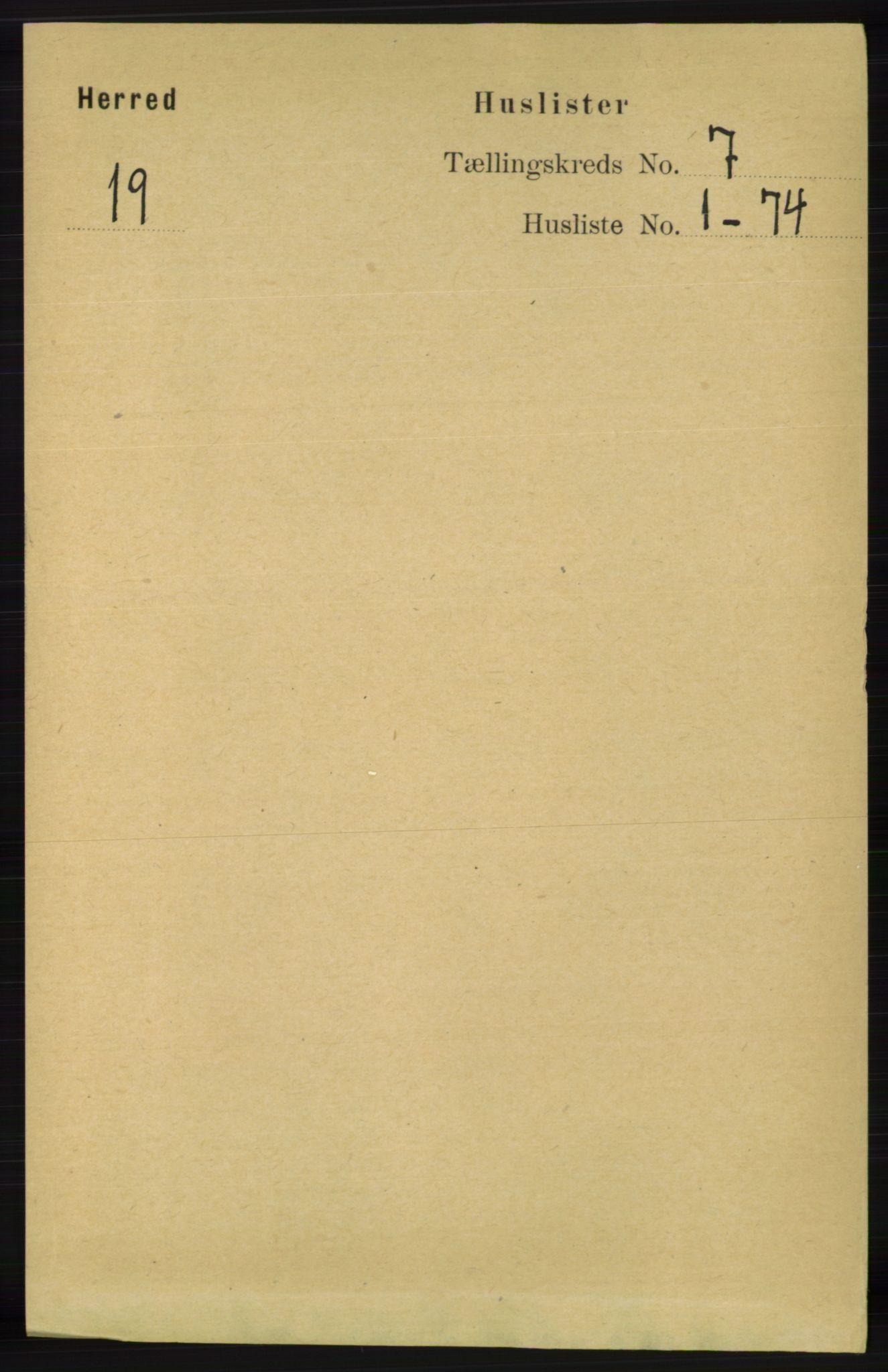 RA, Folketelling 1891 for 1039 Herad herred, 1891, s. 2717