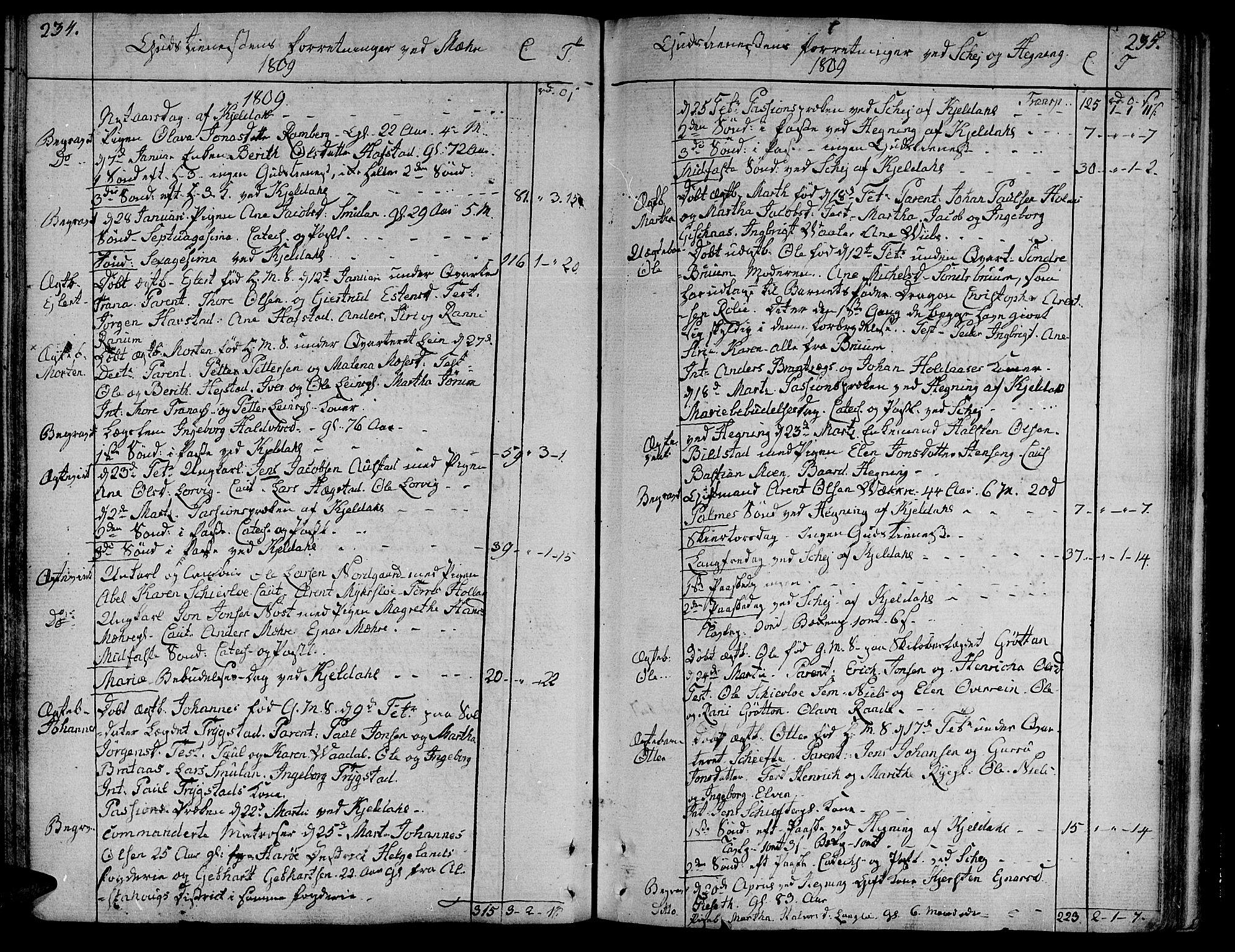 SAT, Ministerialprotokoller, klokkerbøker og fødselsregistre - Nord-Trøndelag, 735/L0332: Ministerialbok nr. 735A03, 1795-1816, s. 234-235