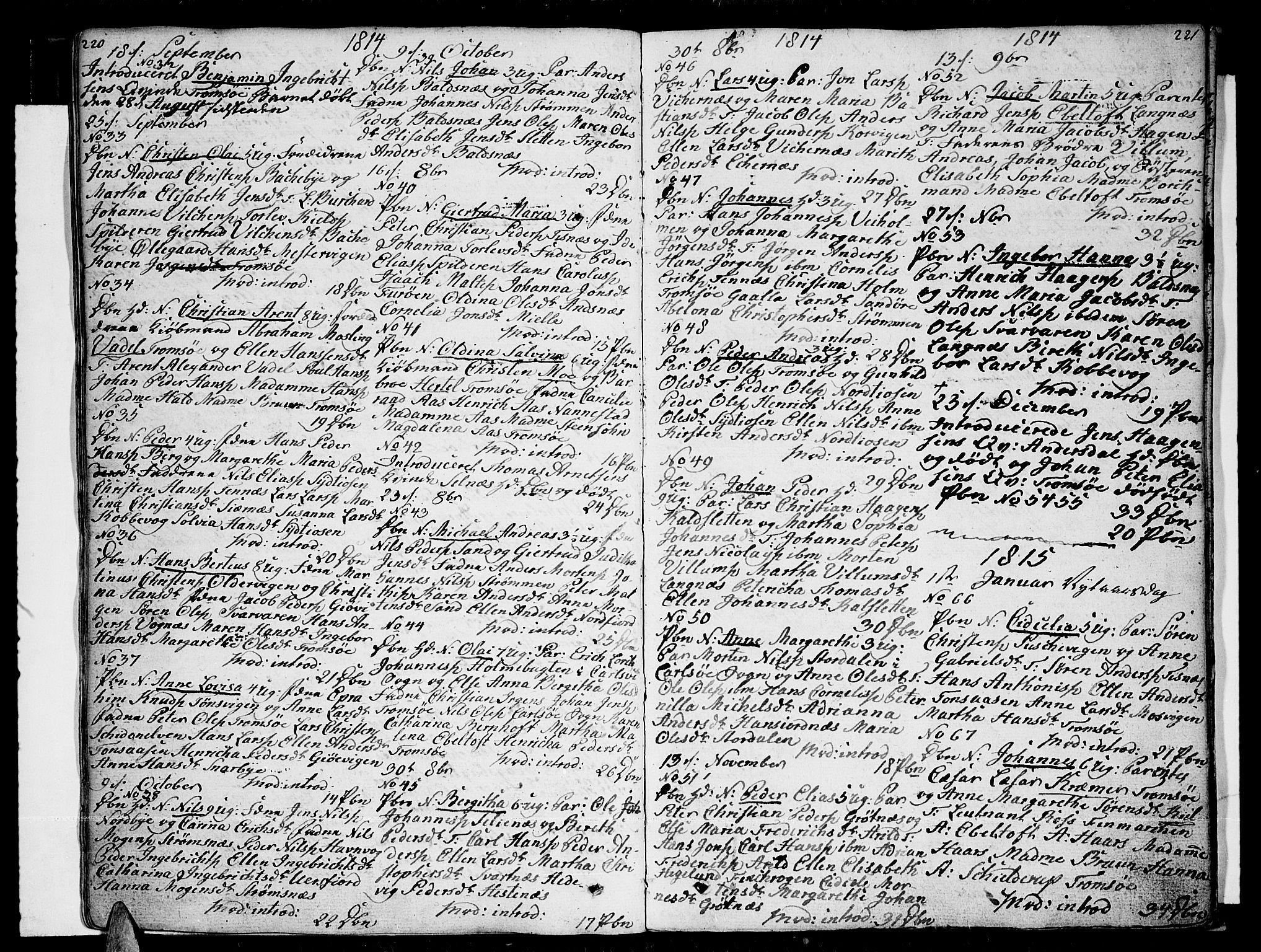 SATØ, Tromsø sokneprestkontor/stiftsprosti/domprosti, G/Ga/L0006kirke: Ministerialbok nr. 6, 1806-1821, s. 220-221