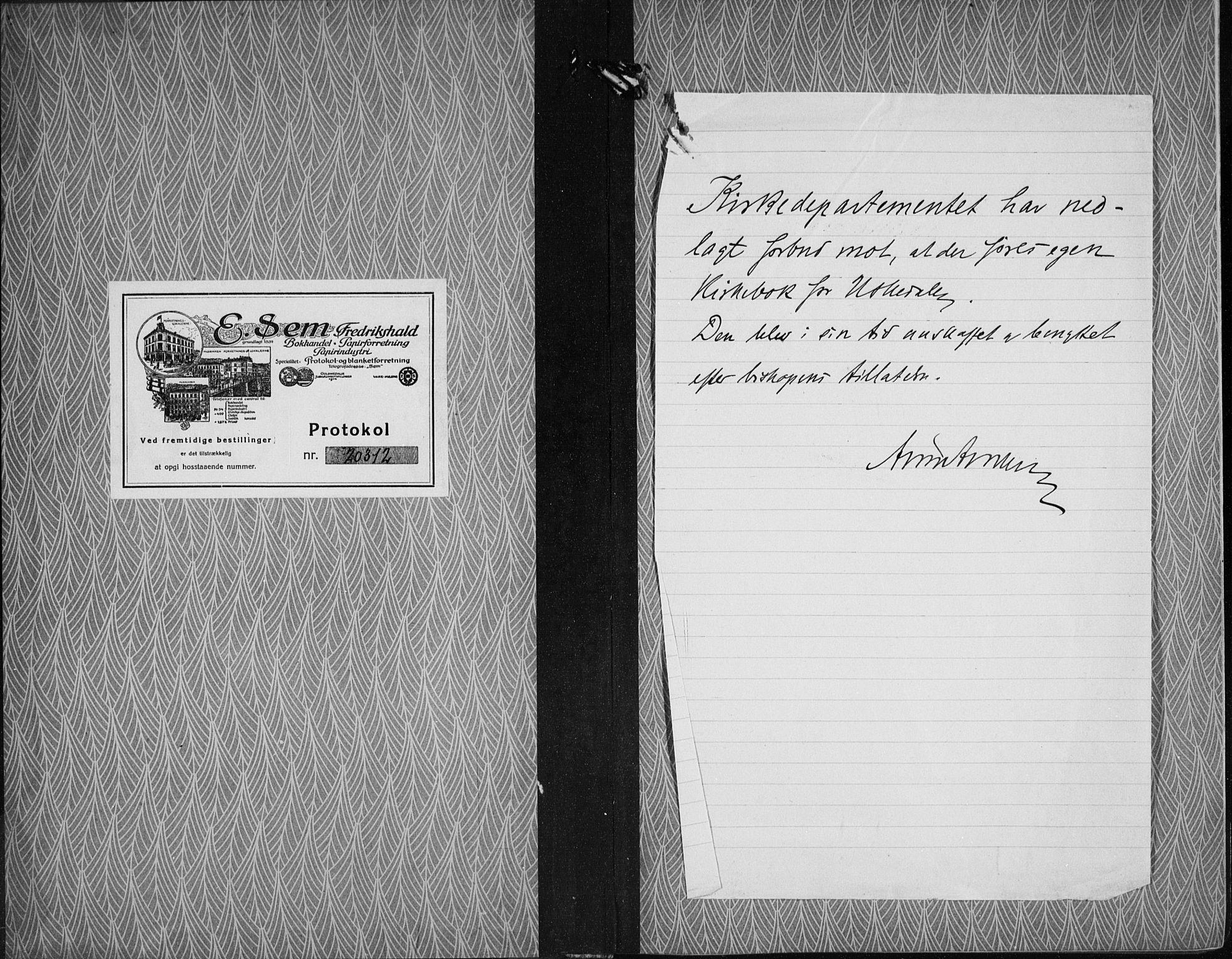 SAB, Kvinnherad Sokneprestembete, H/Haa: Ministerialbok nr. G  1, 1920-1927