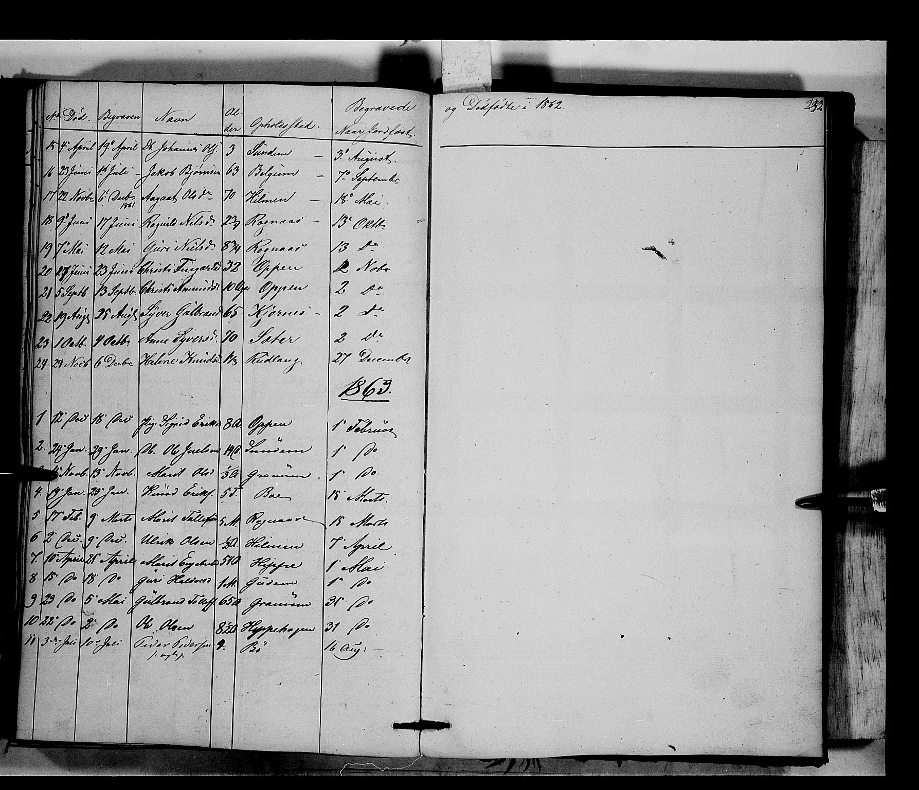 SAH, Nord-Aurdal prestekontor, Ministerialbok nr. 6, 1842-1863, s. 232