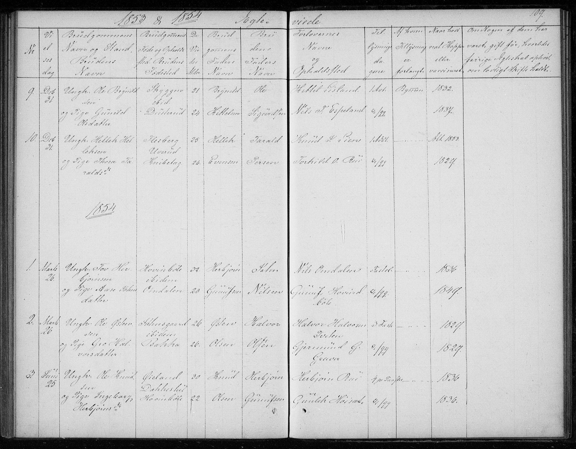 SAKO, Gransherad kirkebøker, F/Fb/L0003: Ministerialbok nr. II 3, 1844-1859, s. 109